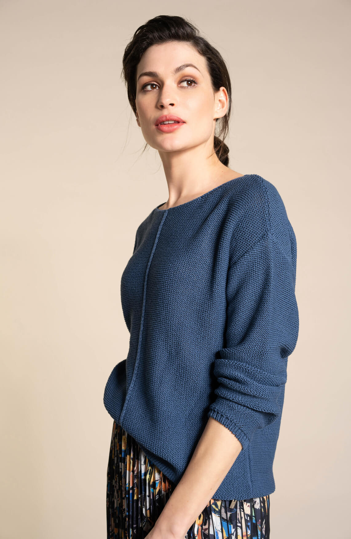 Anna Dames Gebreide pullover Blauw
