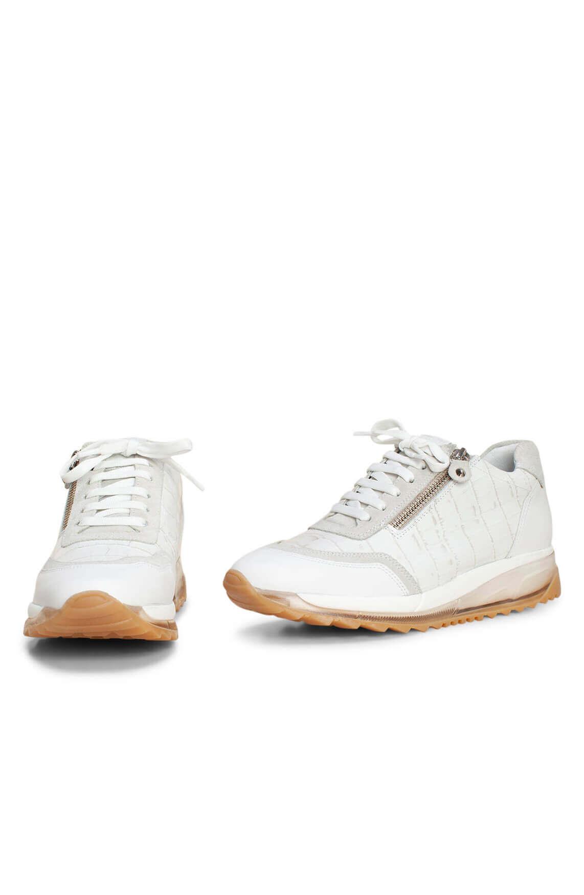 Noi Due Dames Sneaker met schub dessin wit