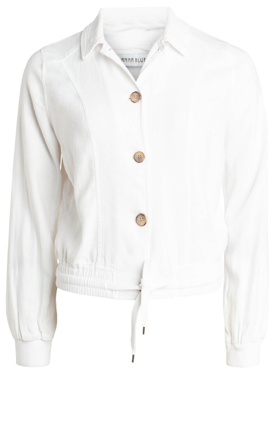 Anna Blue Dames Jack met linnen wit