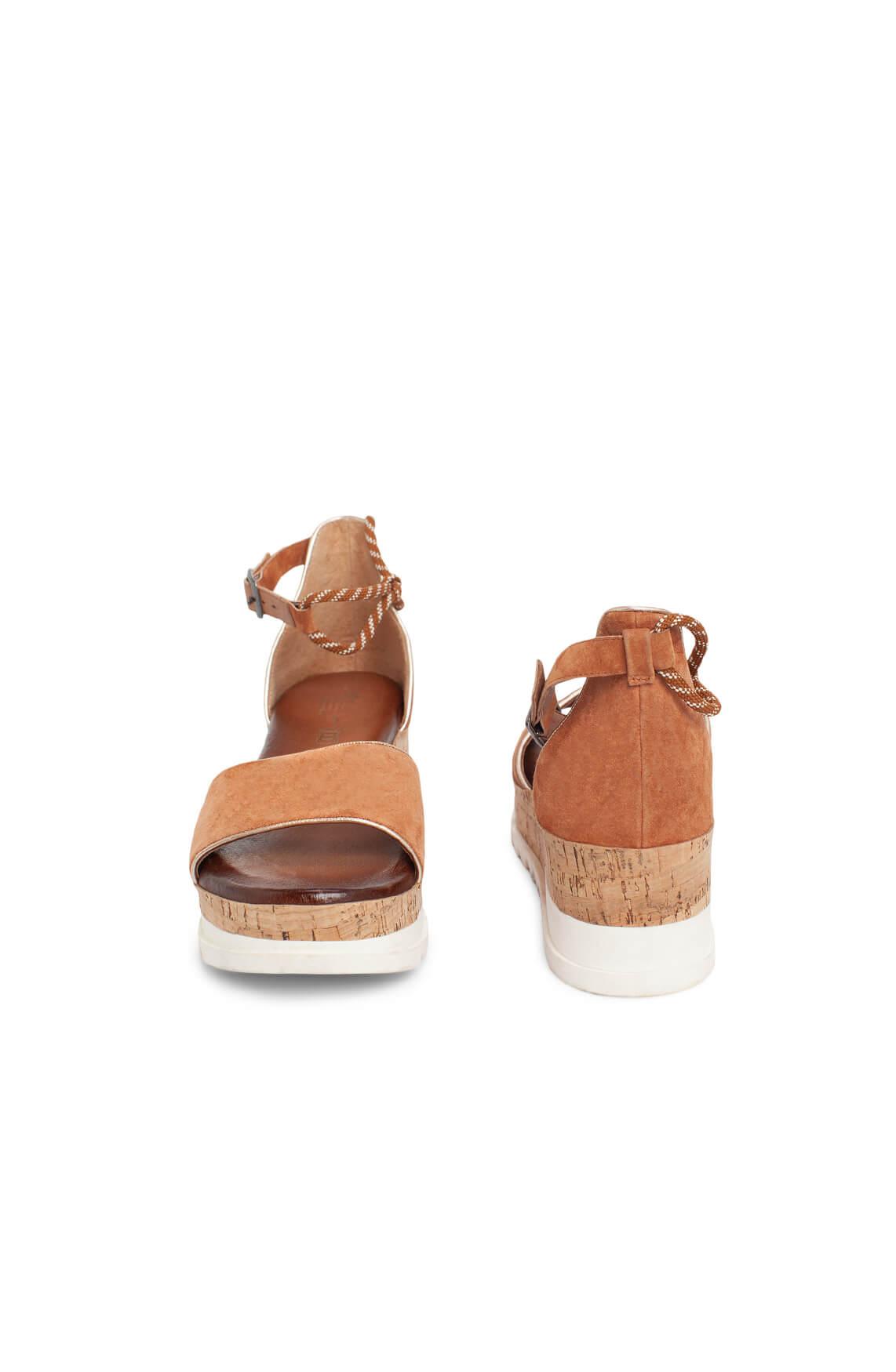 Pitt Dames Suède sandaal Bruin