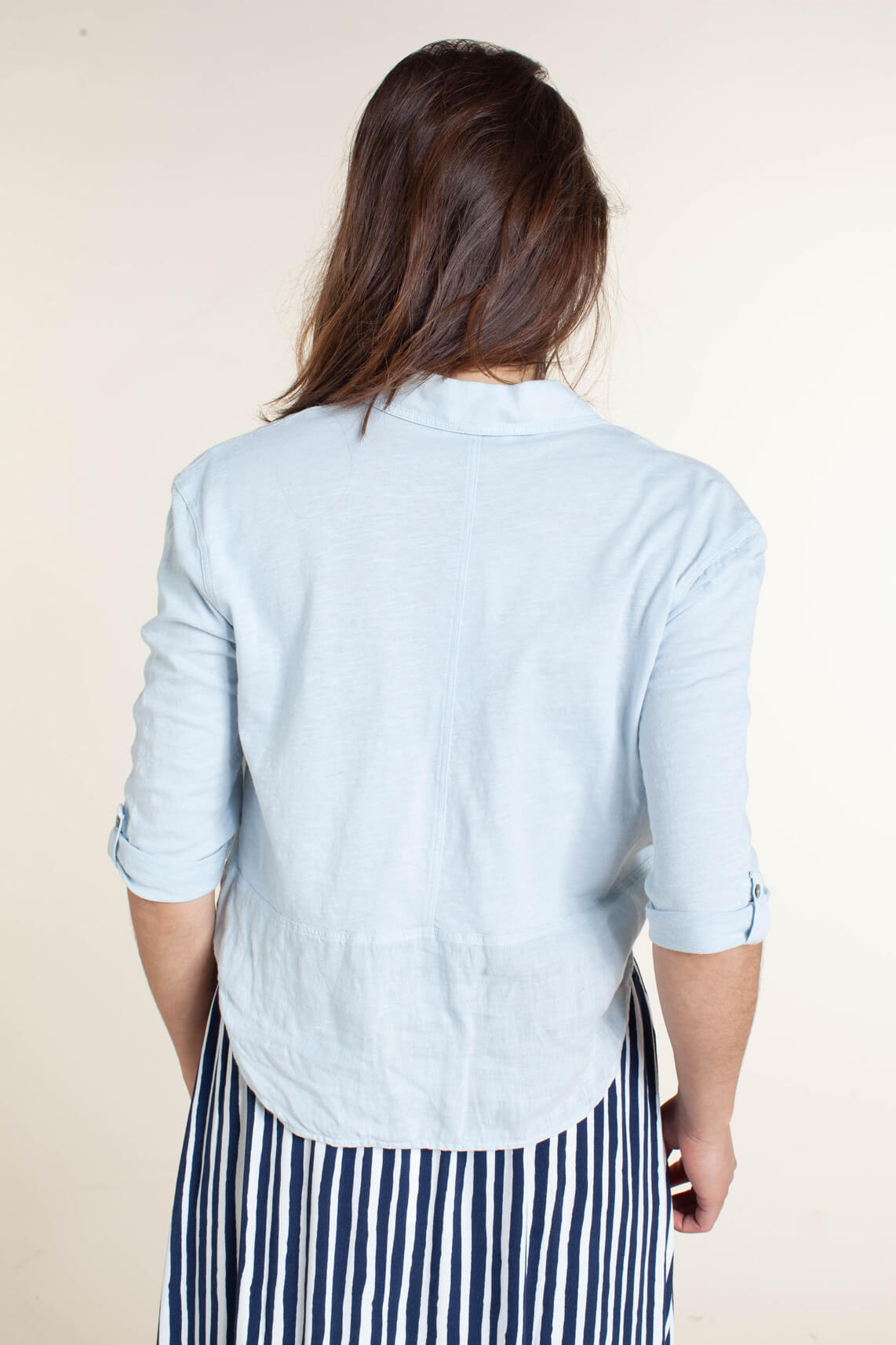 Anna Blue Dames Linnen blouse Blauw