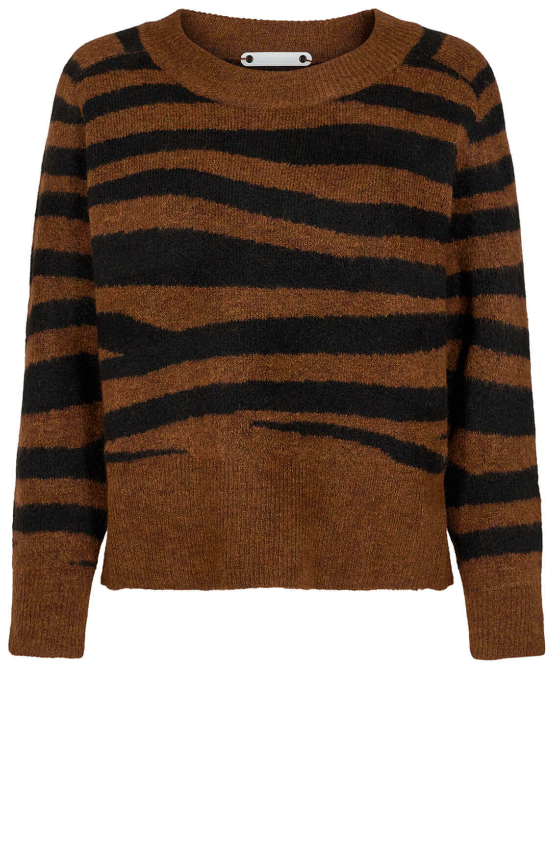 Co Couture Dames Soul tiger pullover Bruin