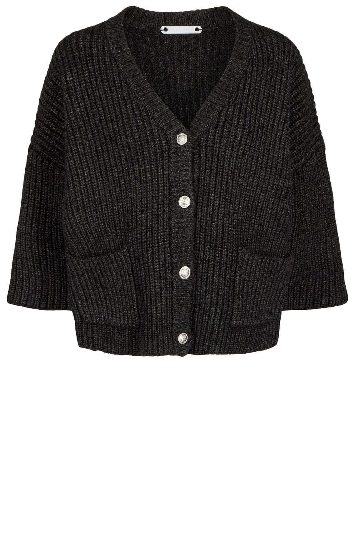 Co Couture Dames Row gebreid vest zwart