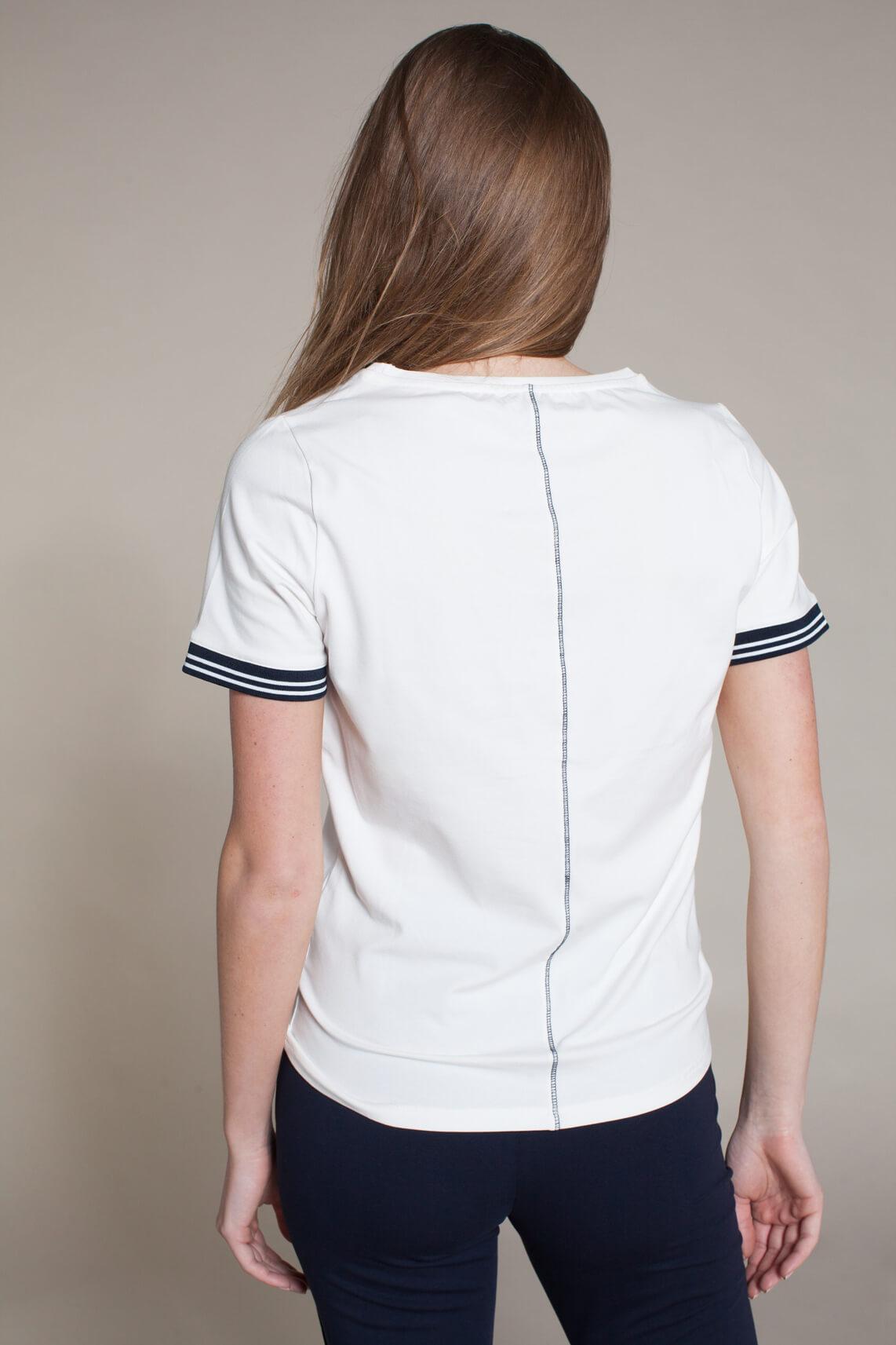 Anna Blue Dames Shirt Blue Active wit