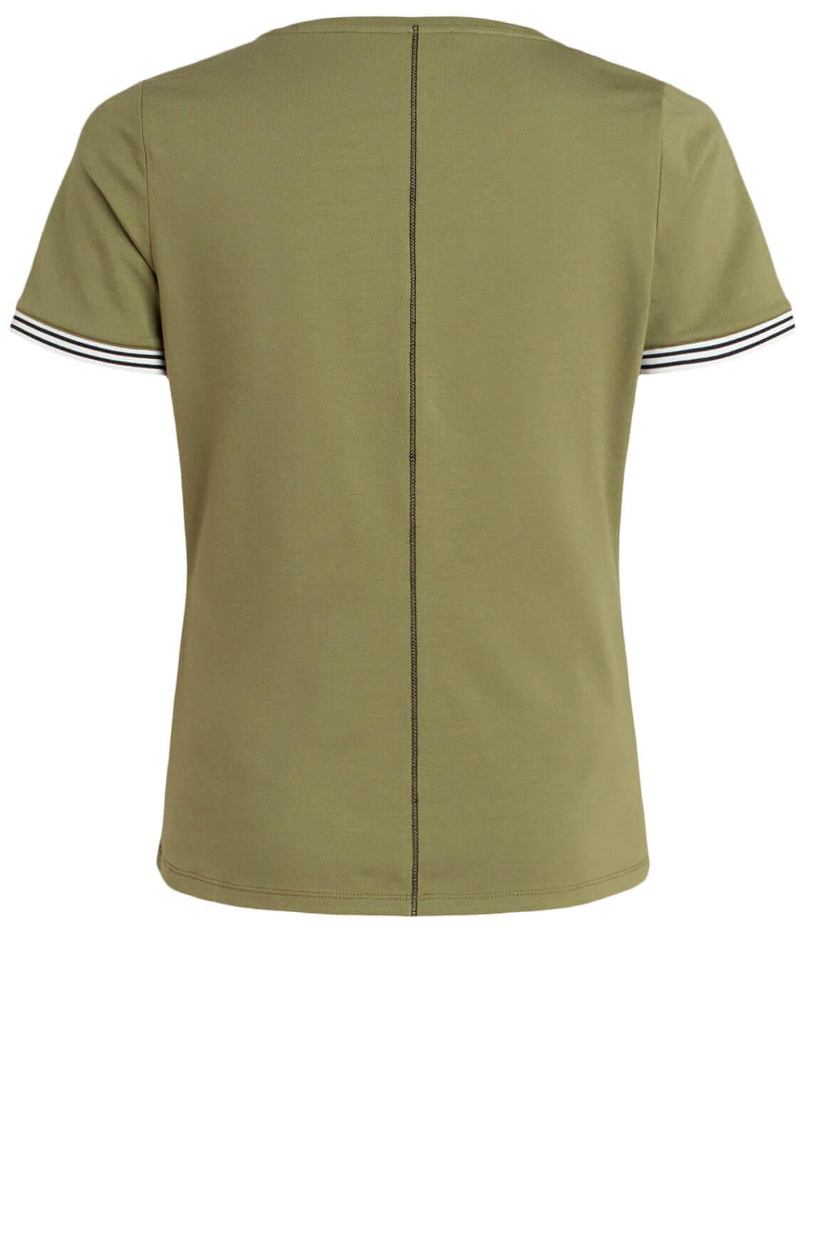 Anna Blue Dames Shirt met tekstopdruk groen