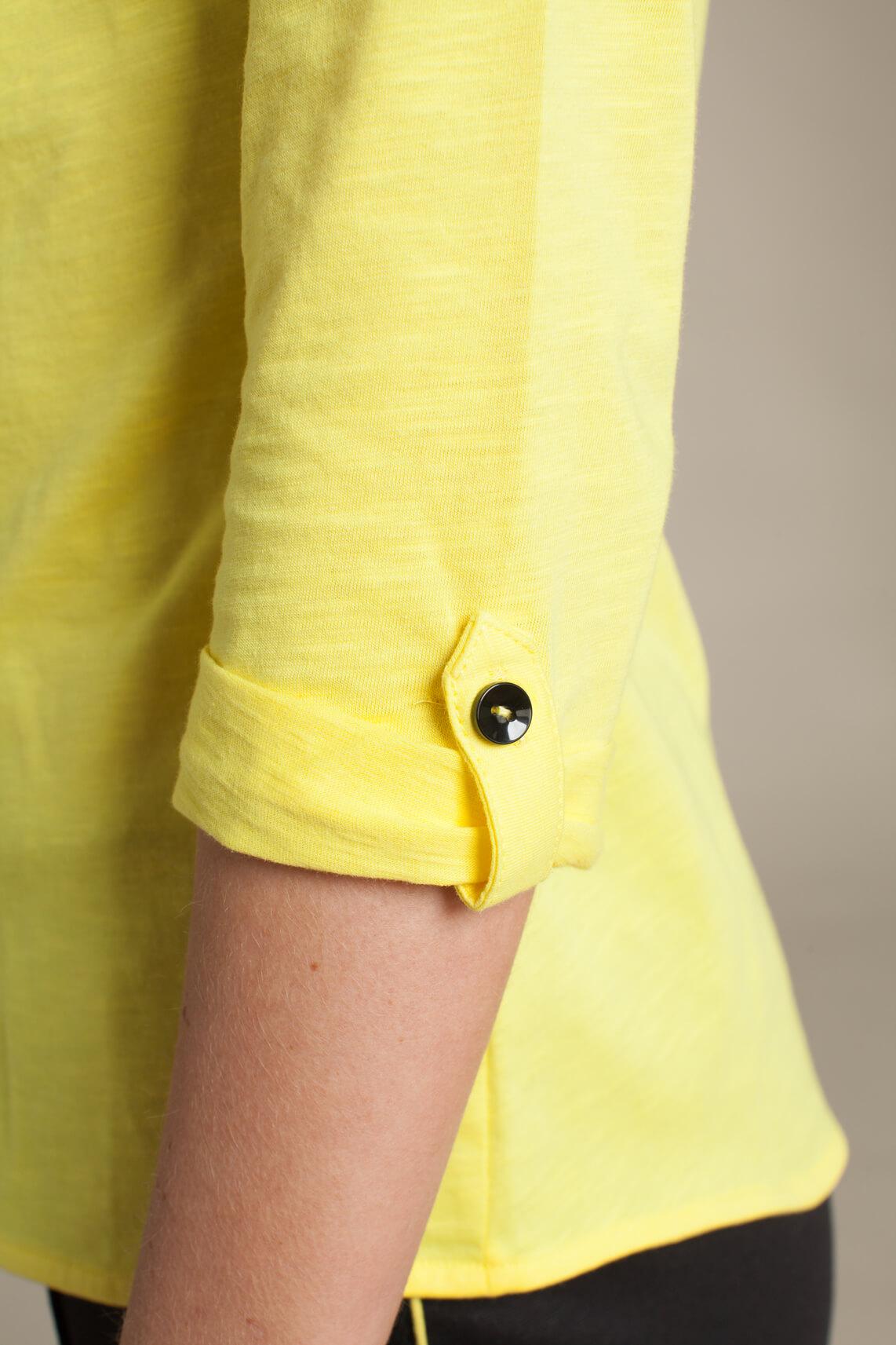 Anna Blue Dames Casual blouse geel