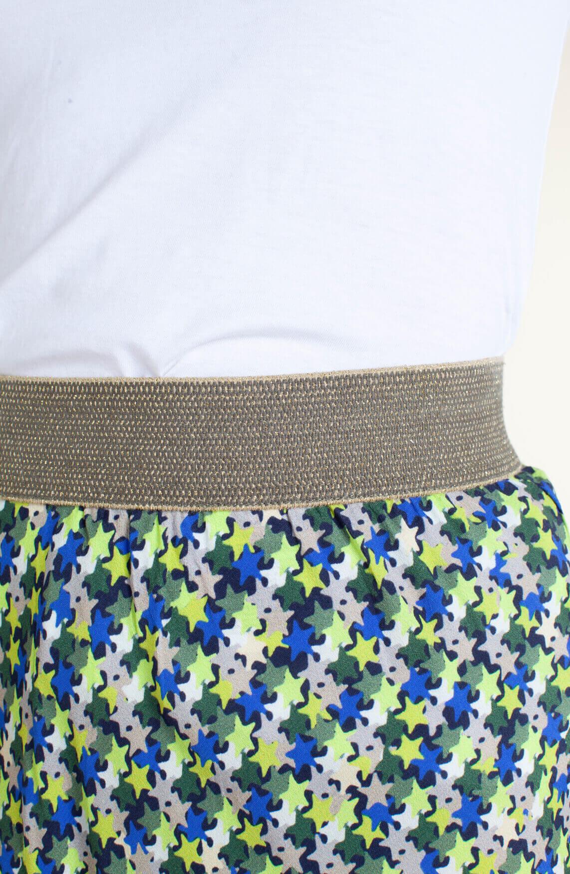Anna Blue Dames Sterrenrok groen