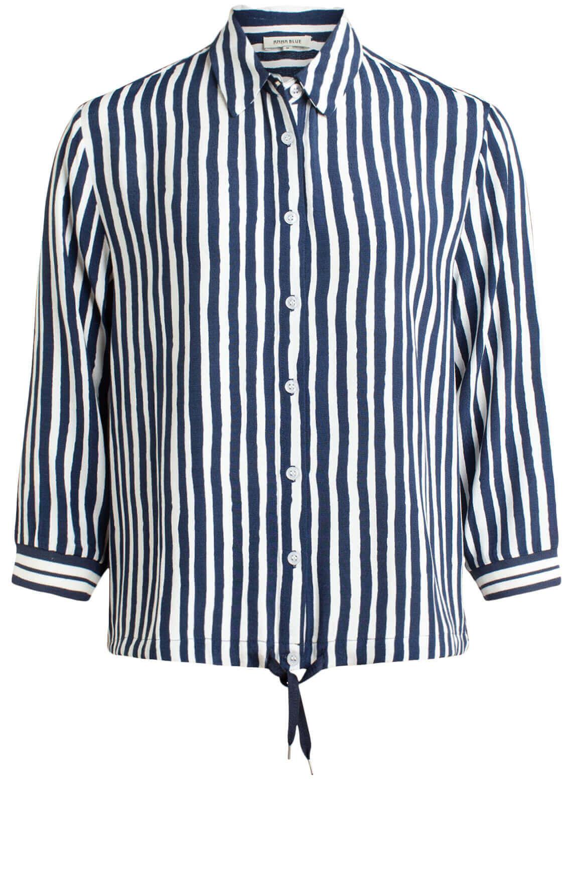 Anna Blue Dames Gestreepte blouse Blauw
