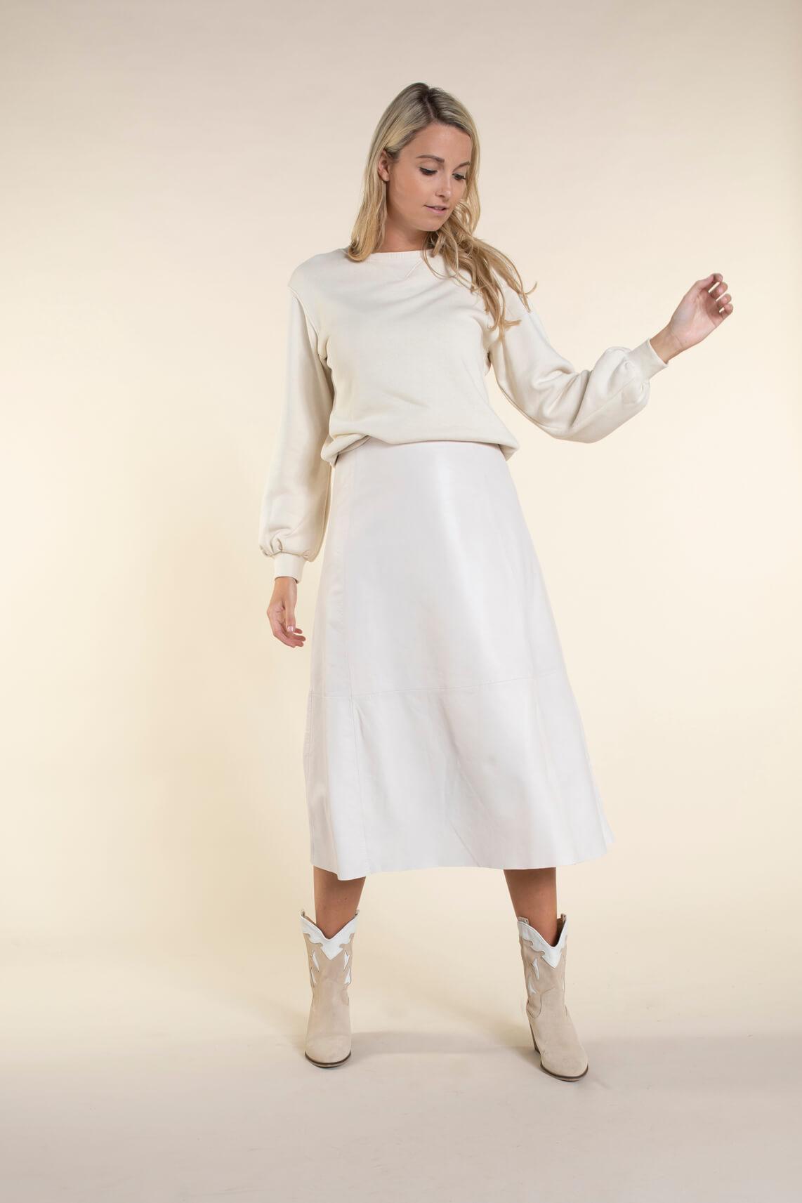Anna Dames Sweater Ecru