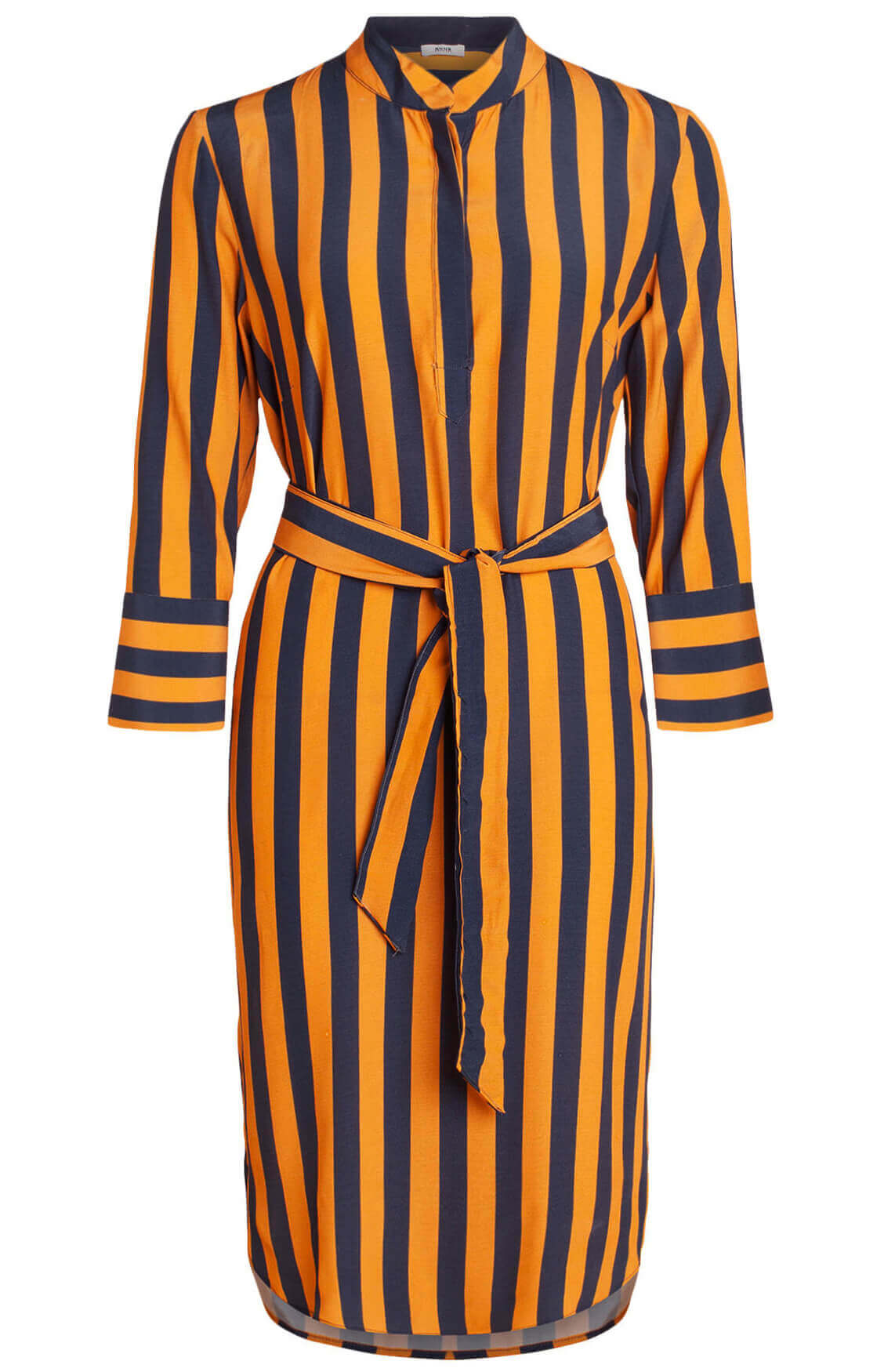 Anna Dames Gestreepte jurk Oranje