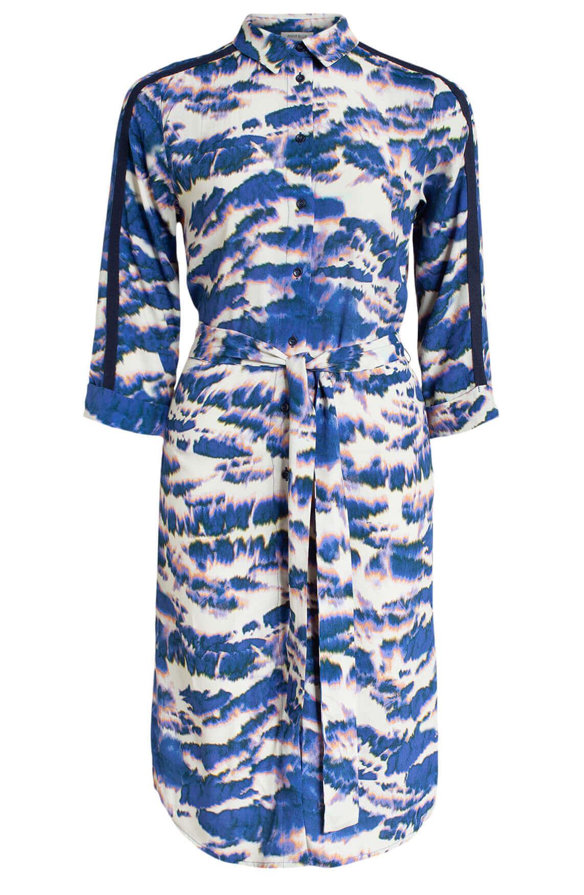 Anna Blue Dames Tie dye jurk Blauw