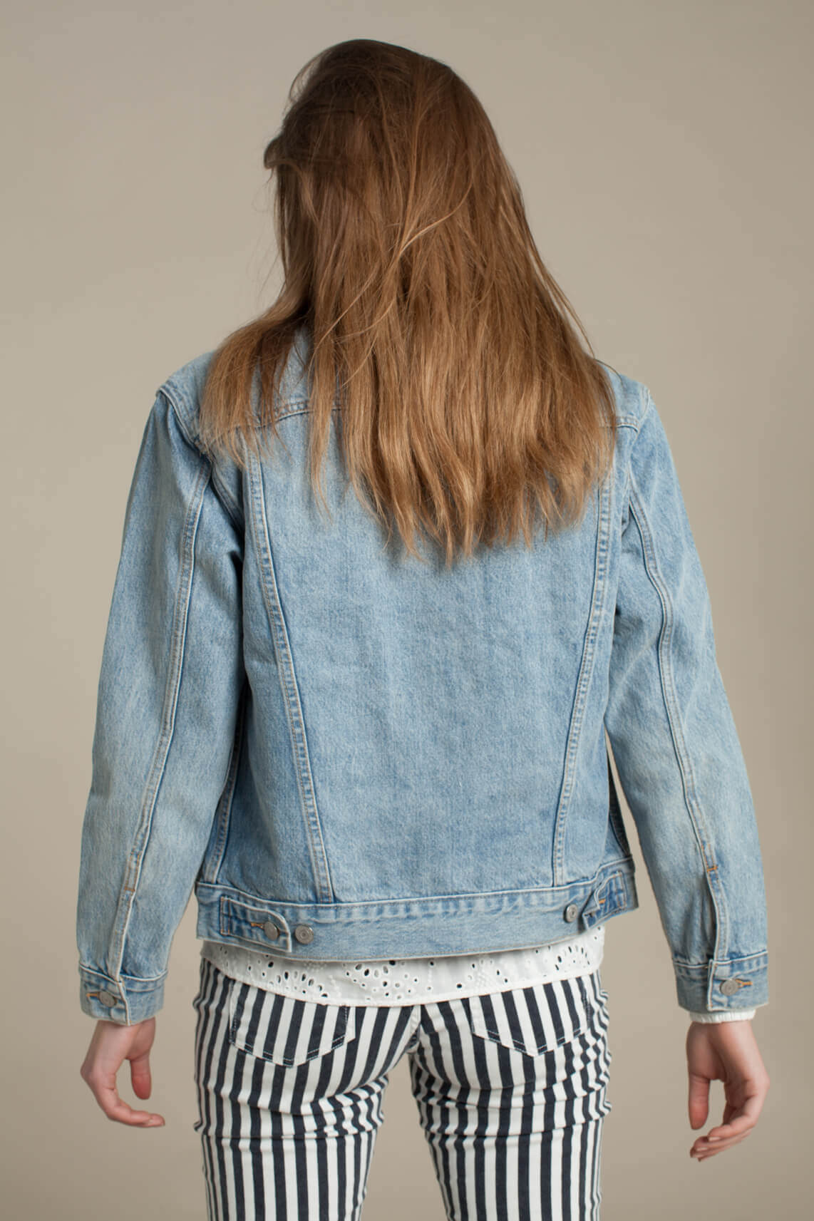 Levi s Dames Boyfriend spijkerjack Blauw