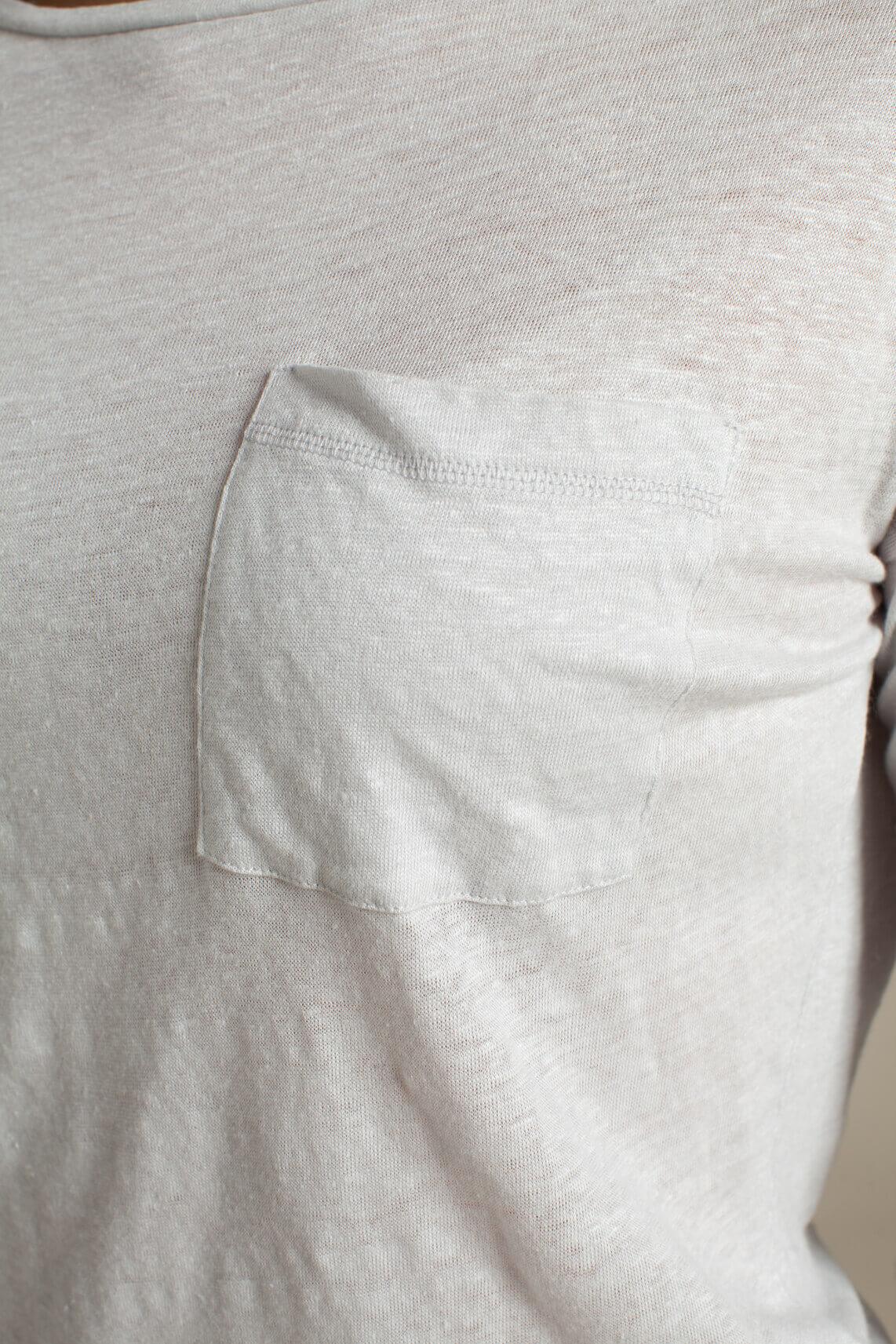 Anna Blue Dames Linnen shirt Grijs