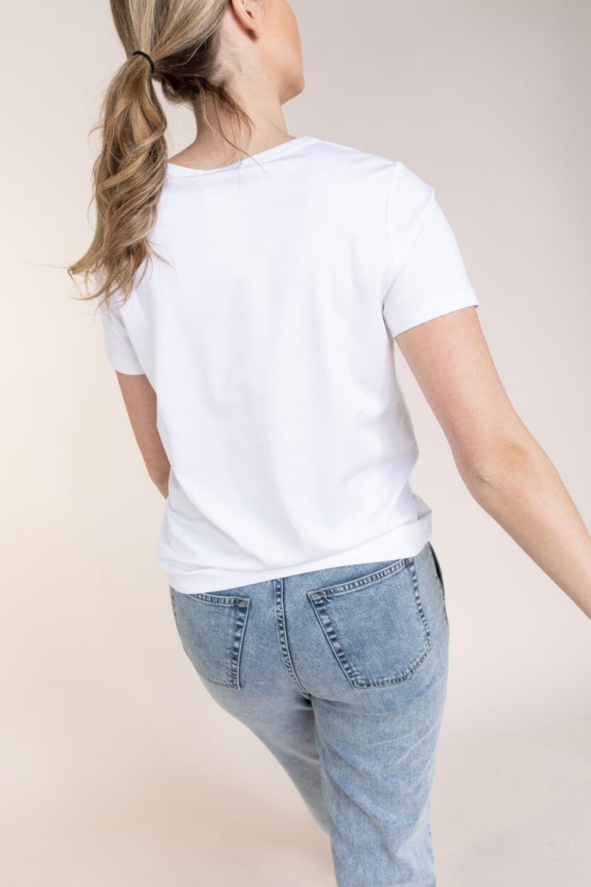 Anna Dames Shirt met modal Wit