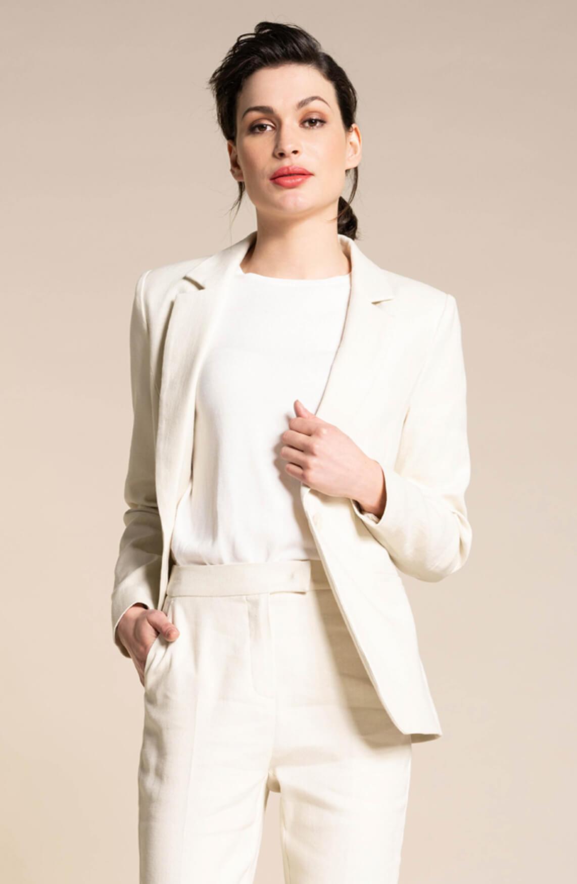 Anna Dames Shirt van modal wit