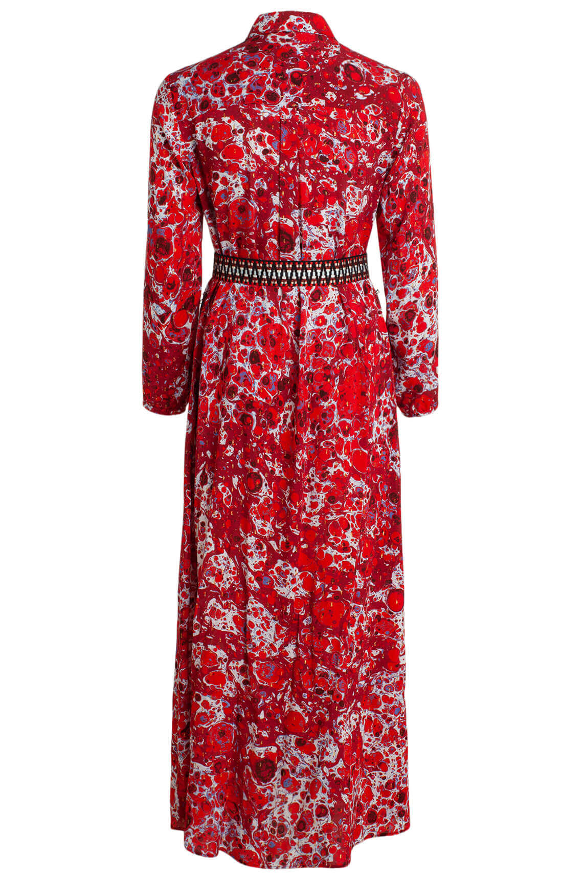Anna Dames Lange geprinte jurk Rood