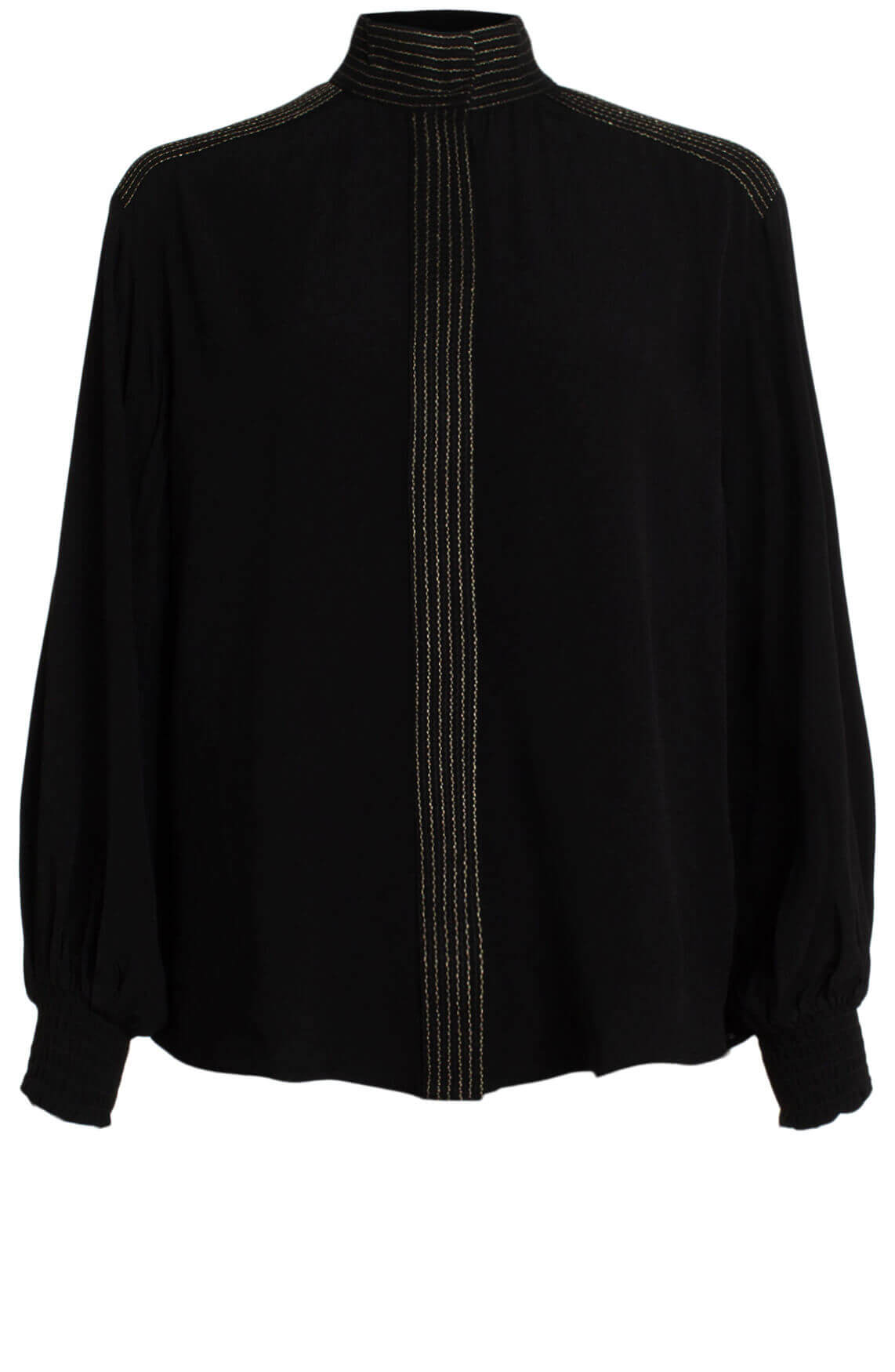 Alix The Label Dames Oversized blouse met lurex zwart