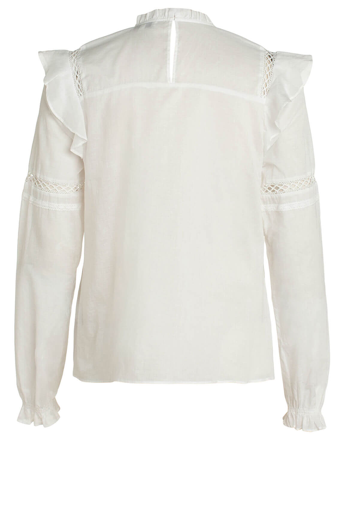 Anna Dames Blouse met broderie wit