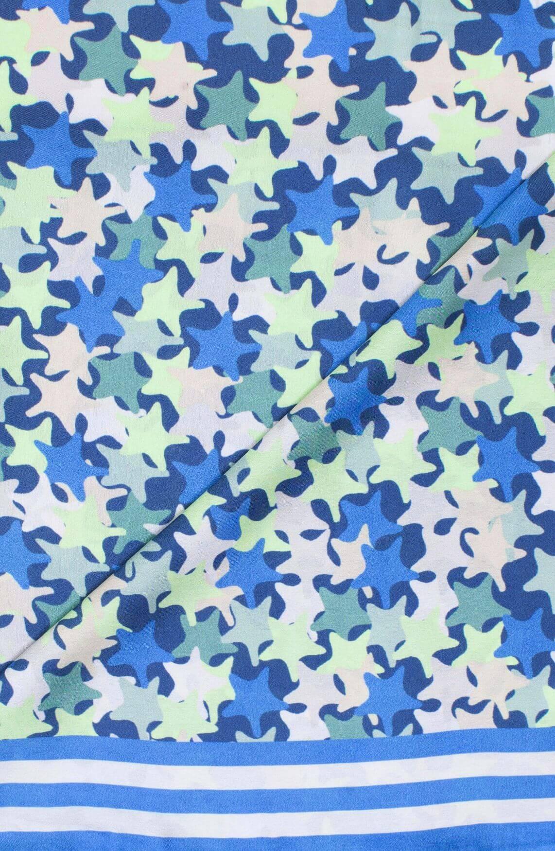 Anna Blue Dames Shawltje Blauw