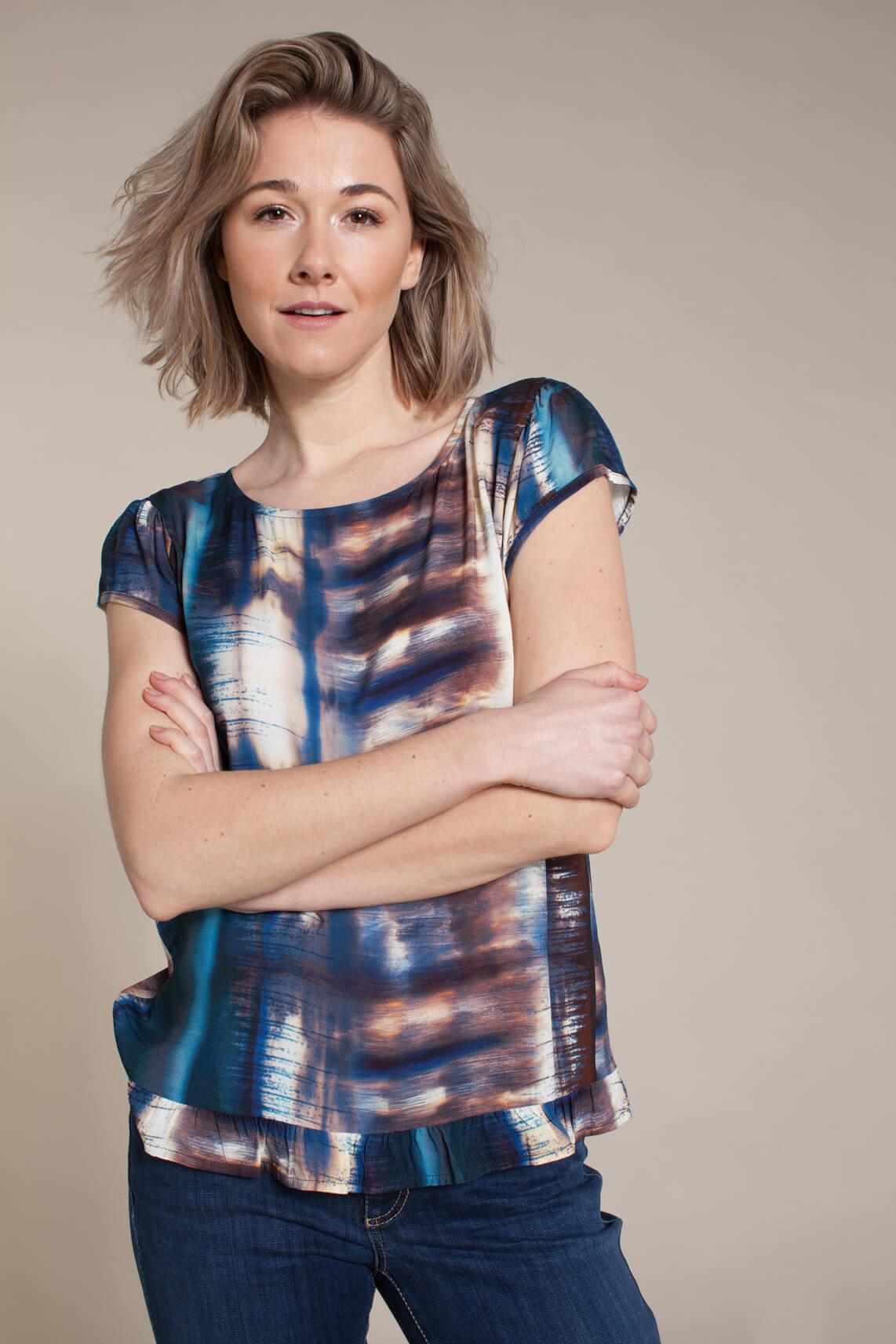 La Fée Maraboutée Dames Tie dye blouse Blauw
