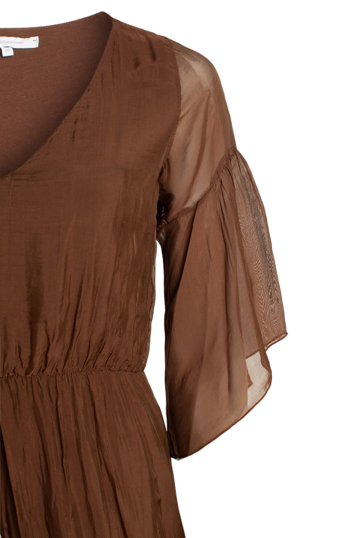 La Fée Maraboutée Dames Lange jurk met zijde Bruin