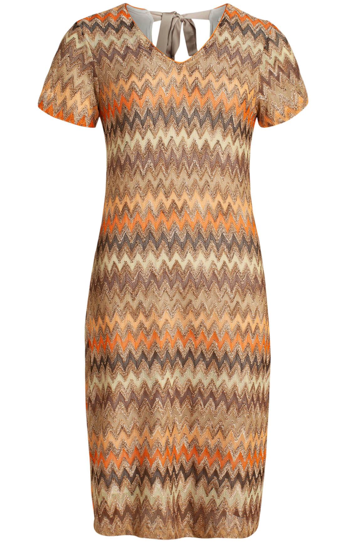 La Fée Maraboutée Dames Zigzag jurk Bruin