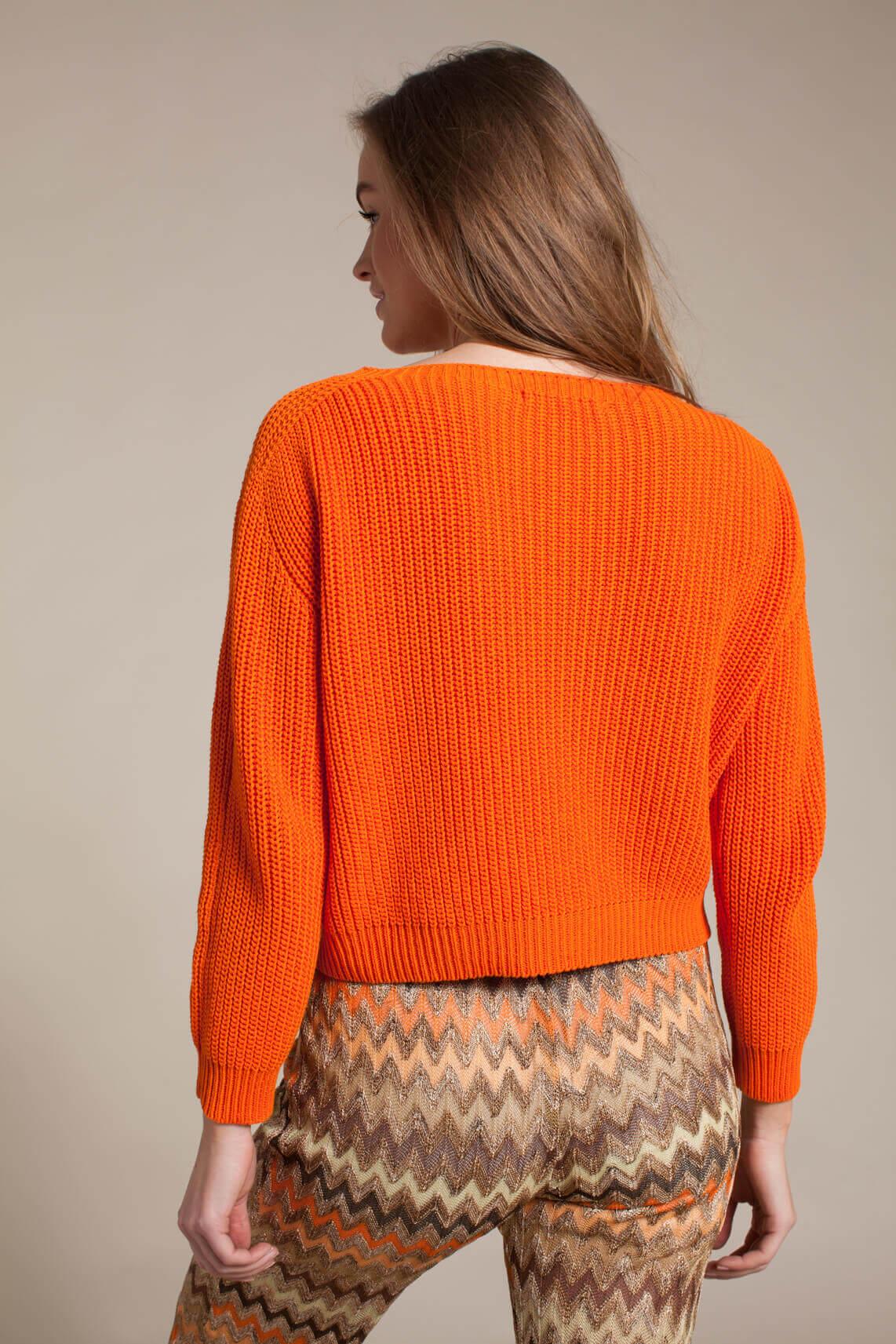 La Fée Maraboutée Dames Gebreide trui Oranje