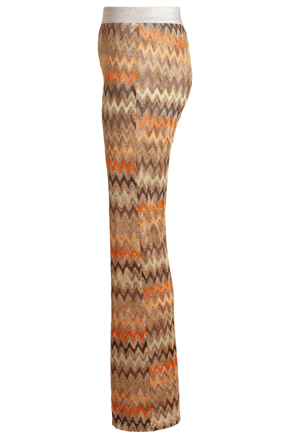La Fée Maraboutée Dames Zigzag flared broek Bruin