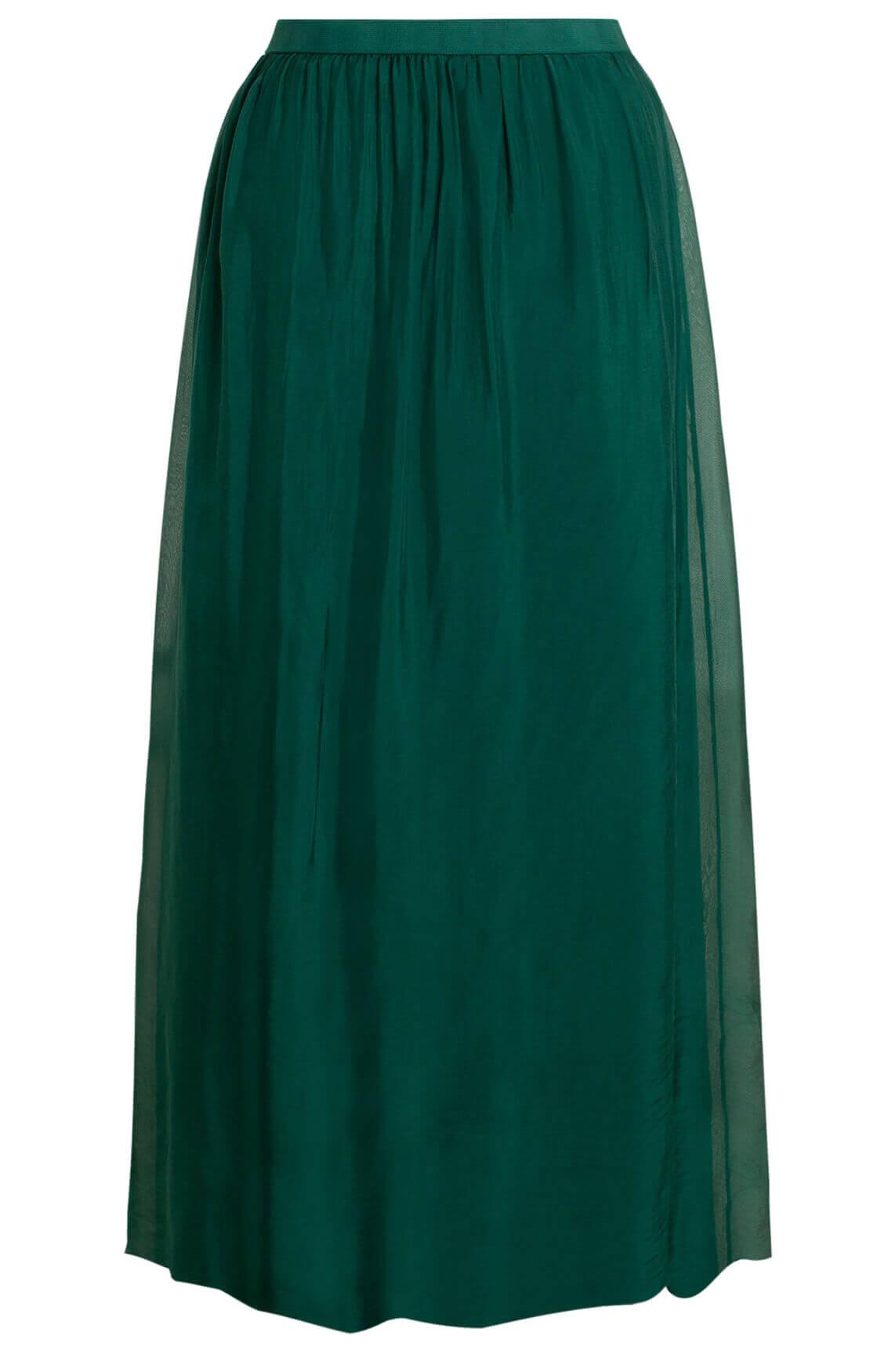 La Fée Maraboutée Dames Lange rok met zijde groen