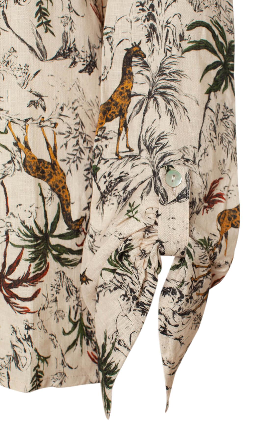 La Fée Maraboutée Dames Blouse met safari print Ecru