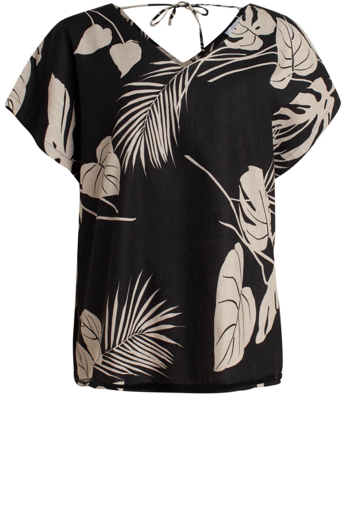 La Fée Maraboutée Dames Linnen blouse zwart