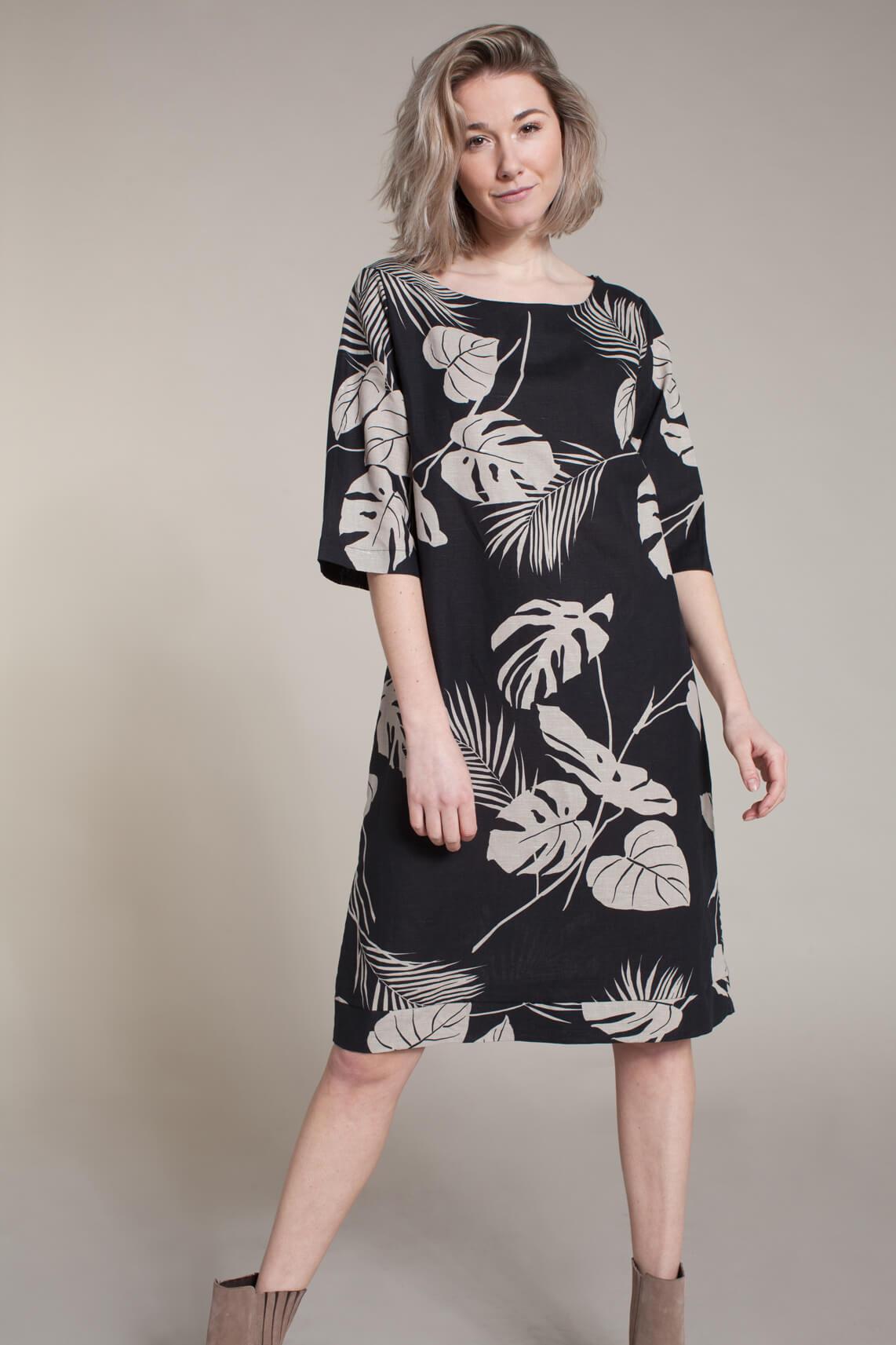 La Fée Maraboutée Dames Linnen jurk zwart