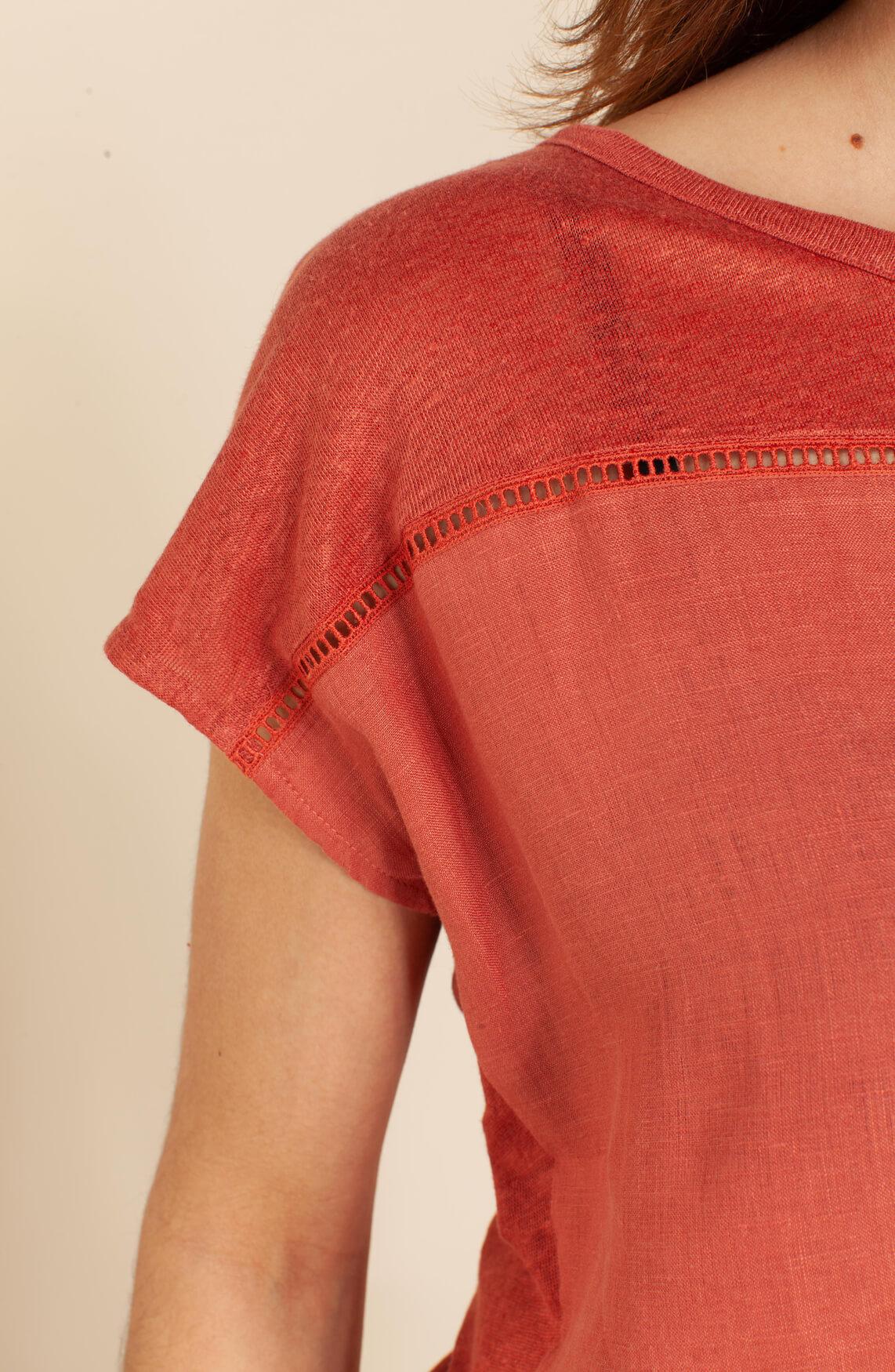 La Fée Maraboutée Dames Linnen shirt Bruin