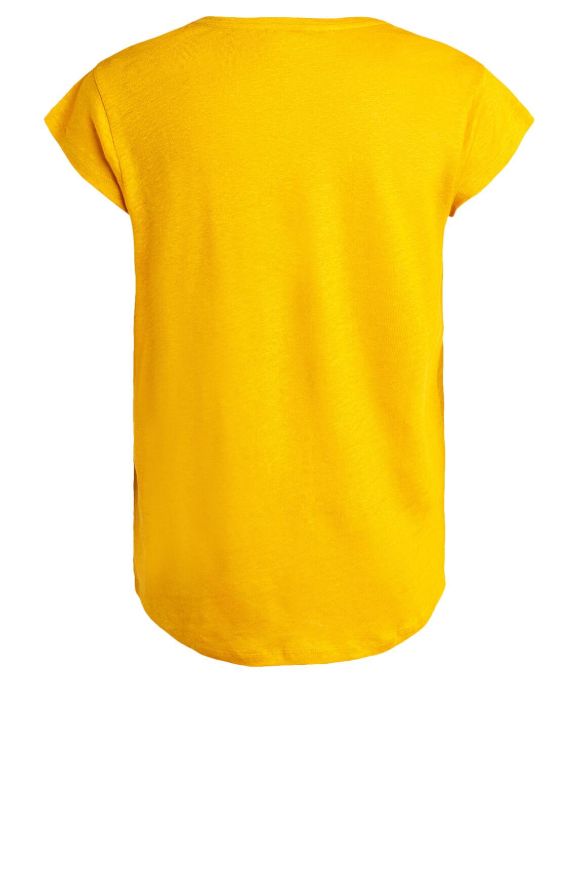 La Fée Maraboutée Dames Linnen shirt geel