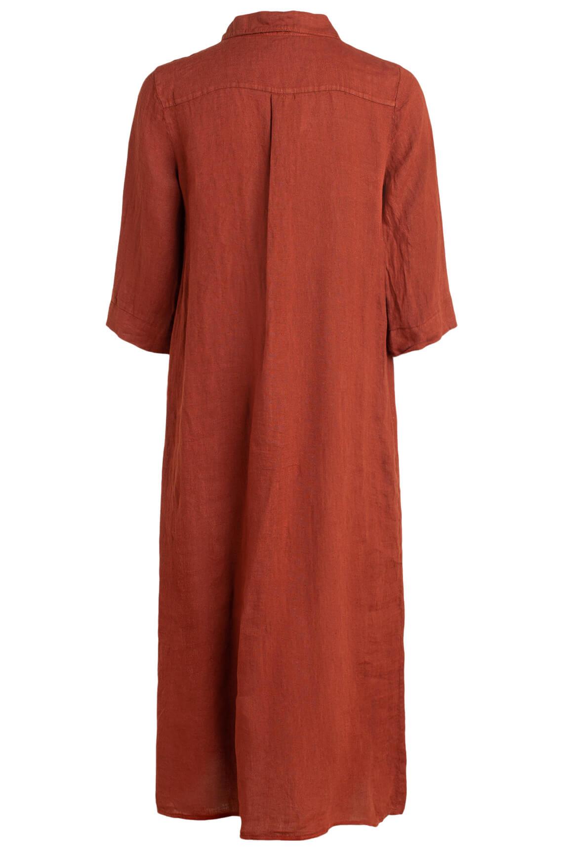 La Fée Maraboutée Dames Lange linnen jurk Bruin