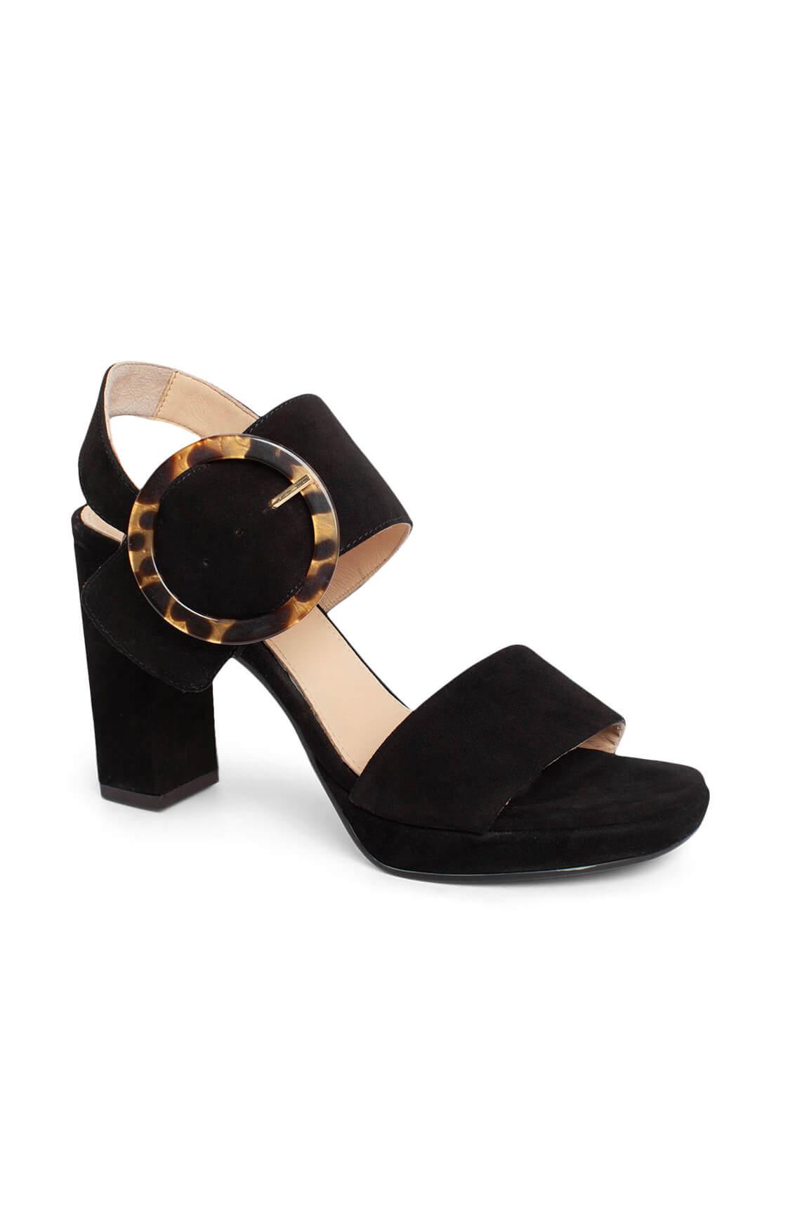Noi Due Dames Suède sandaal zwart