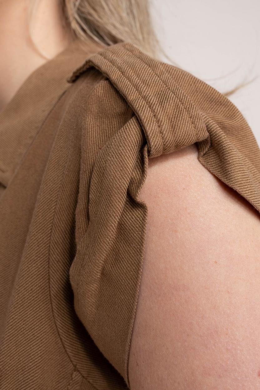 Anna Dames Utility jurk Bruin