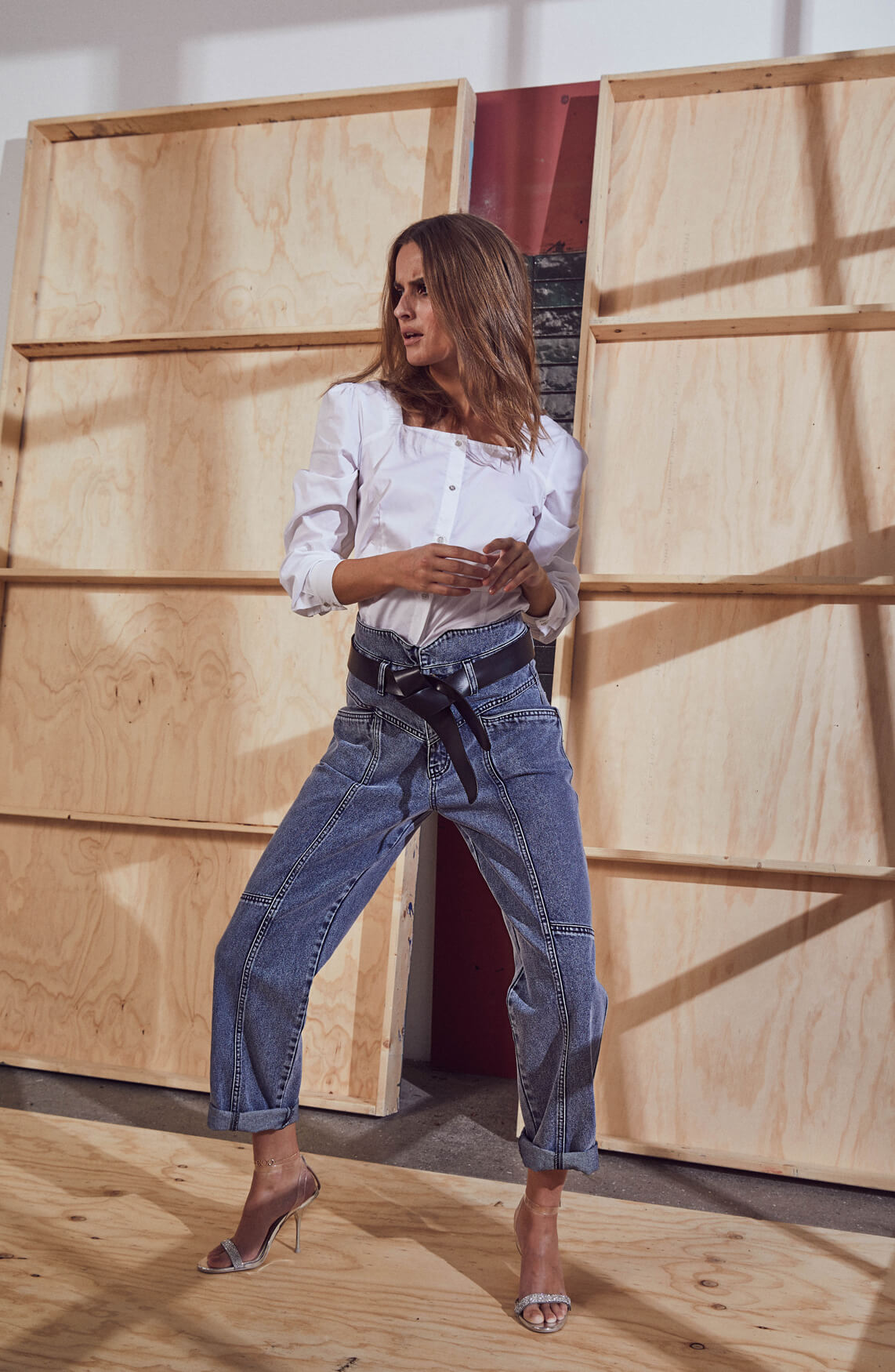 Co Couture Dames Zora high-waist jeans Blauw