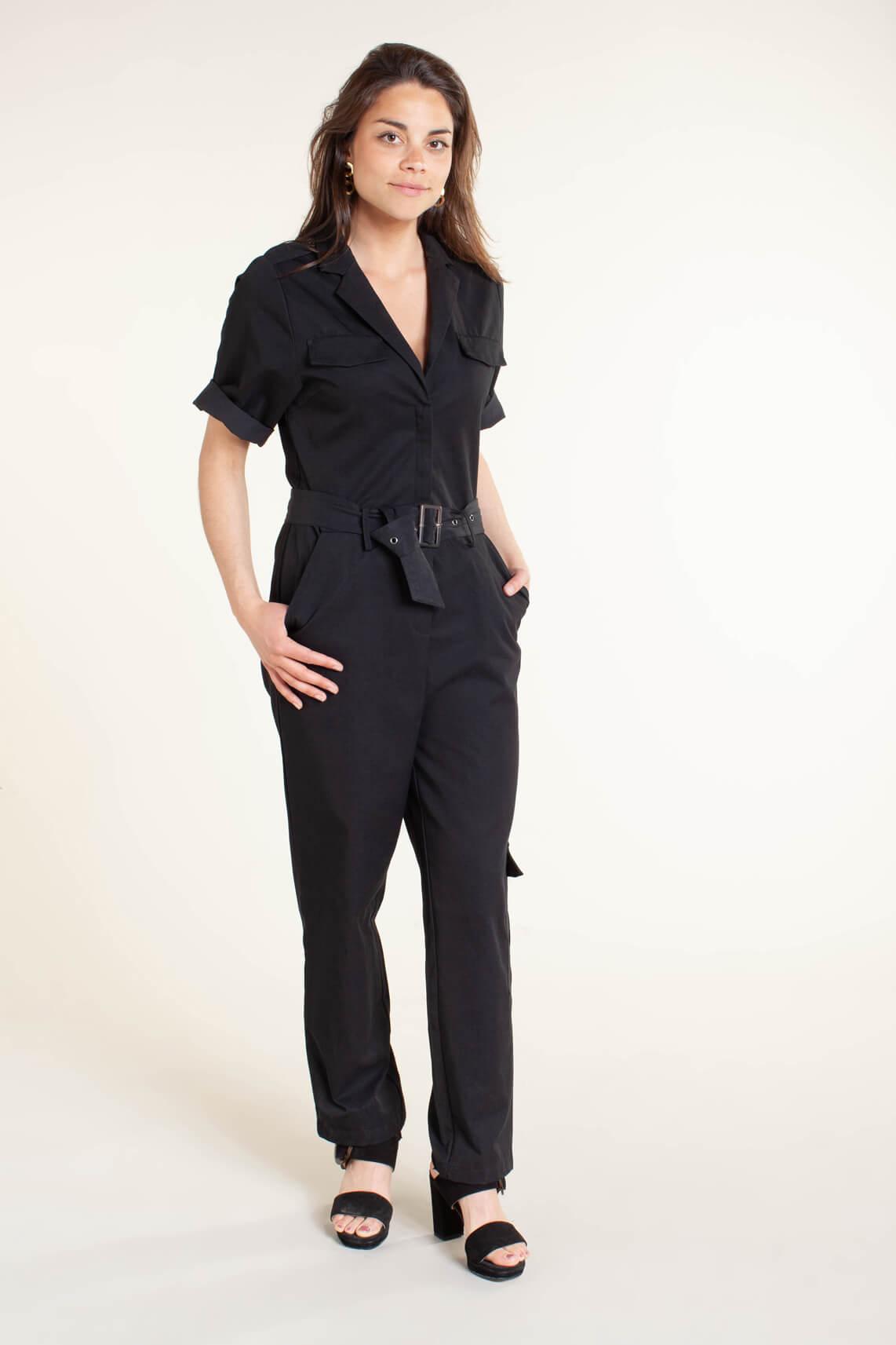 Co Couture Dames Cargo jumpsuit zwart
