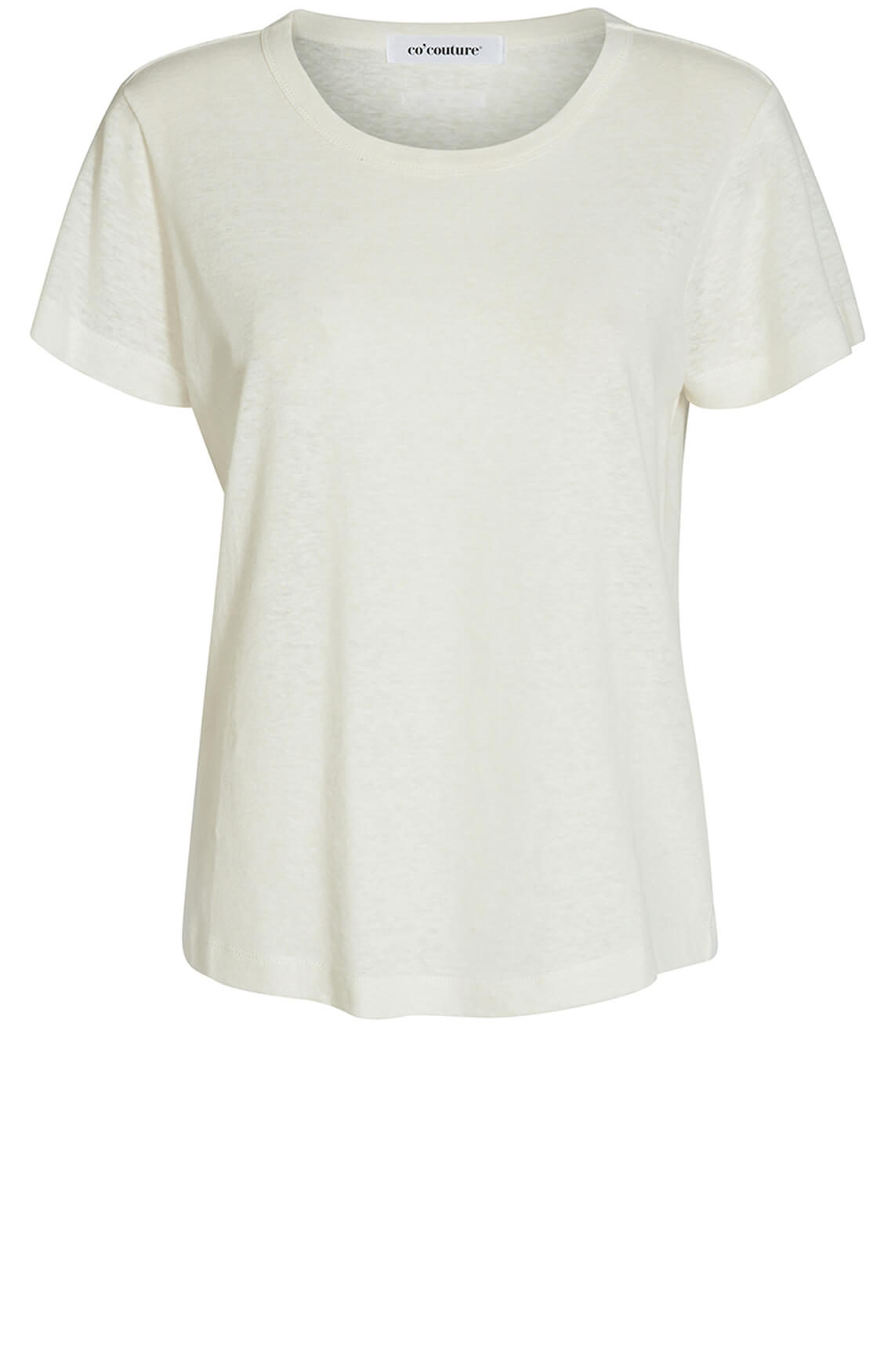 Co Couture Dames LInnen O-neck shirt wit