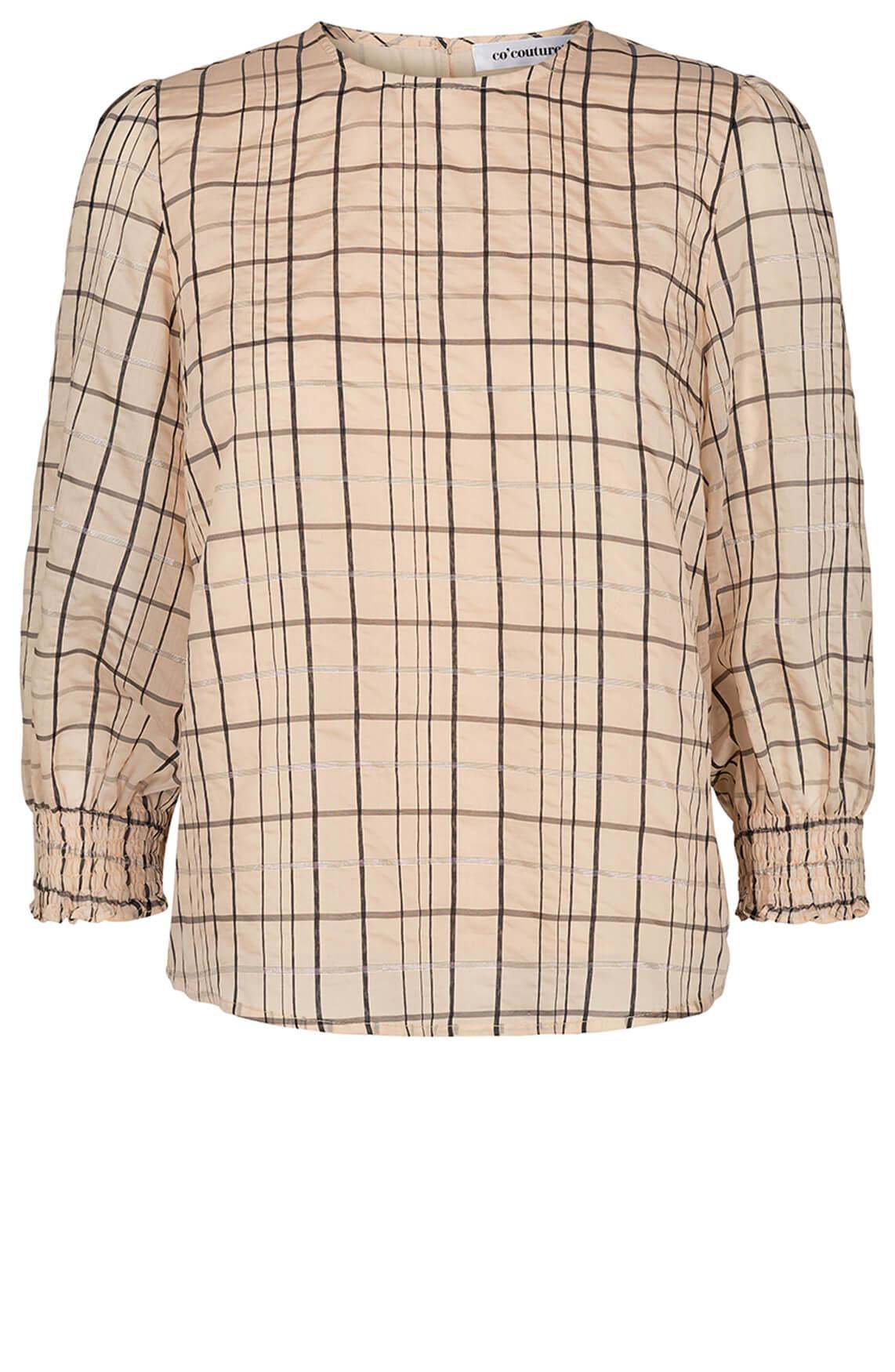 Co Couture Dames Luu geruite blouse Ecru