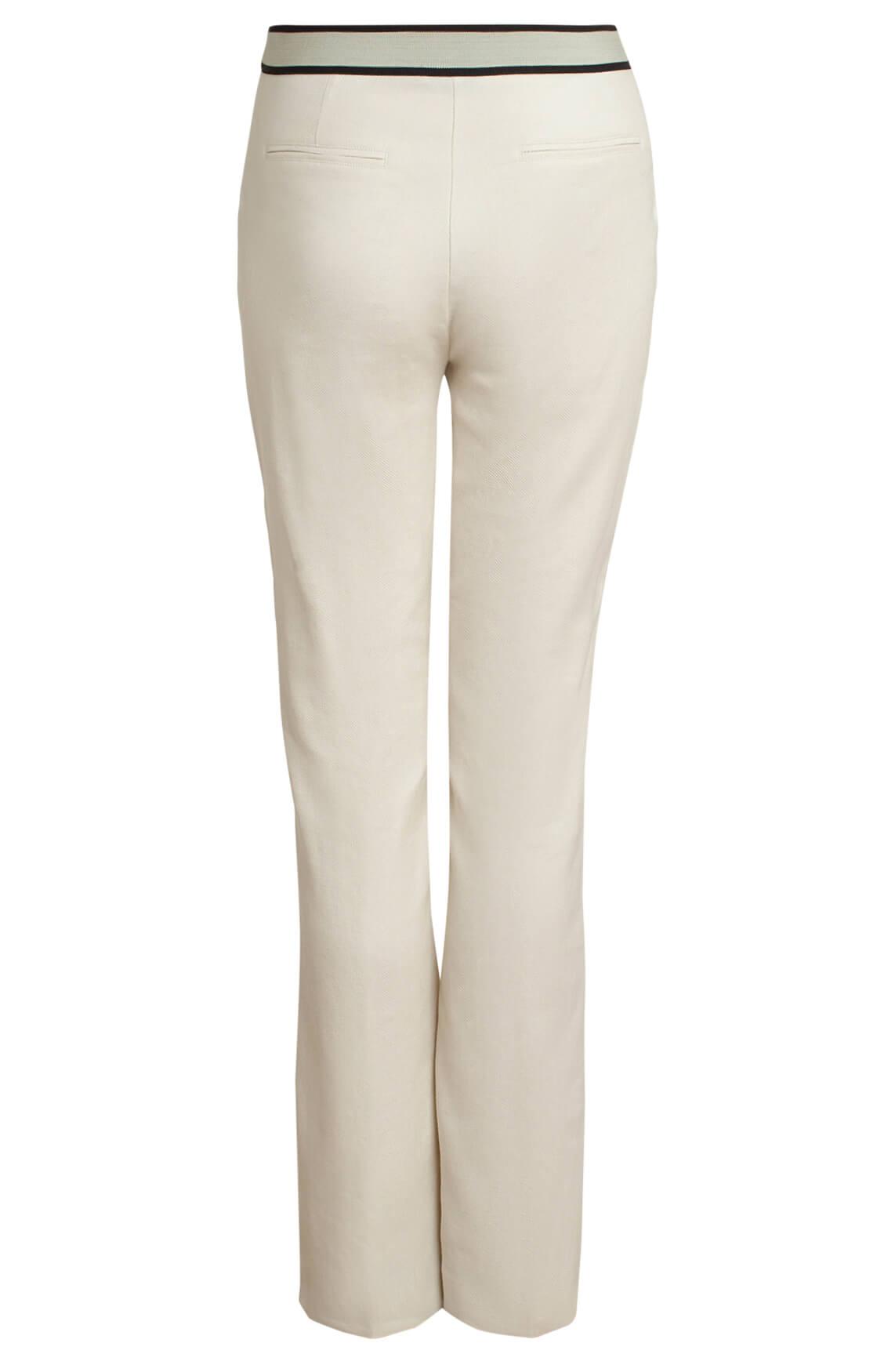 Anna Dames Pantalon met linnen Ecru