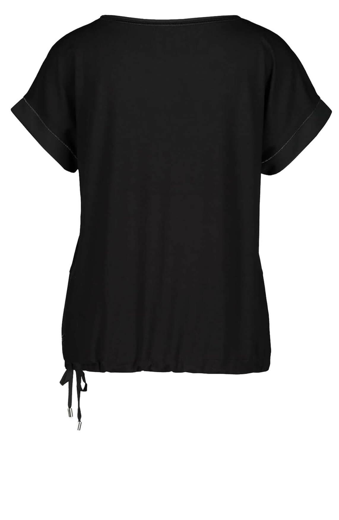 Monari Dames Shirt met fijne kraaltjes zwart