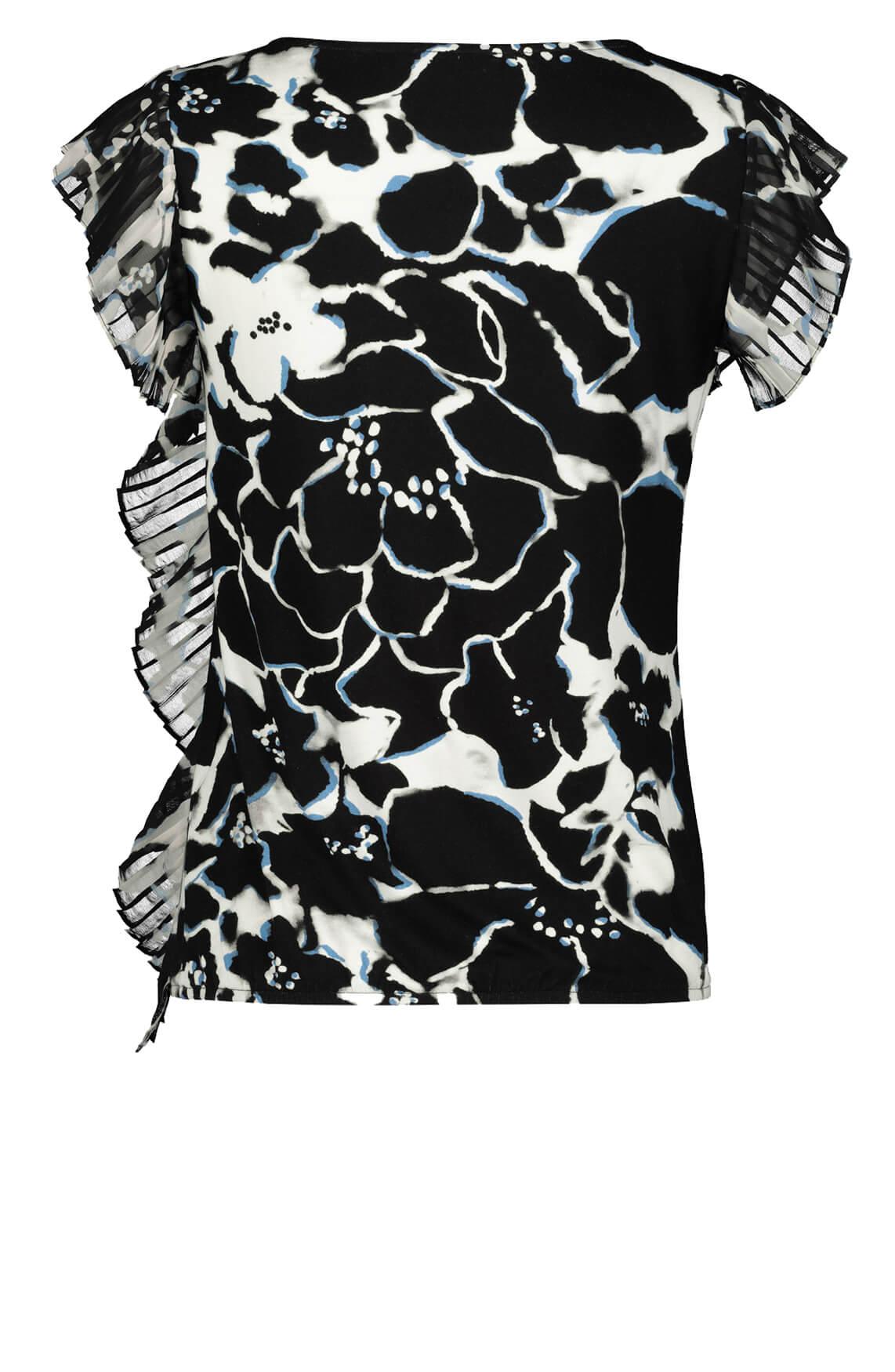 Monari Dames Shirt met bloemenprint zwart