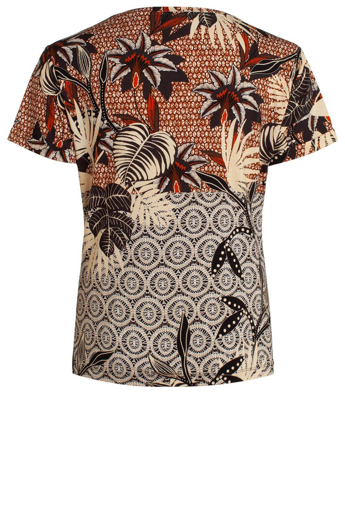 Anna Dames Geprint shirt Bruin