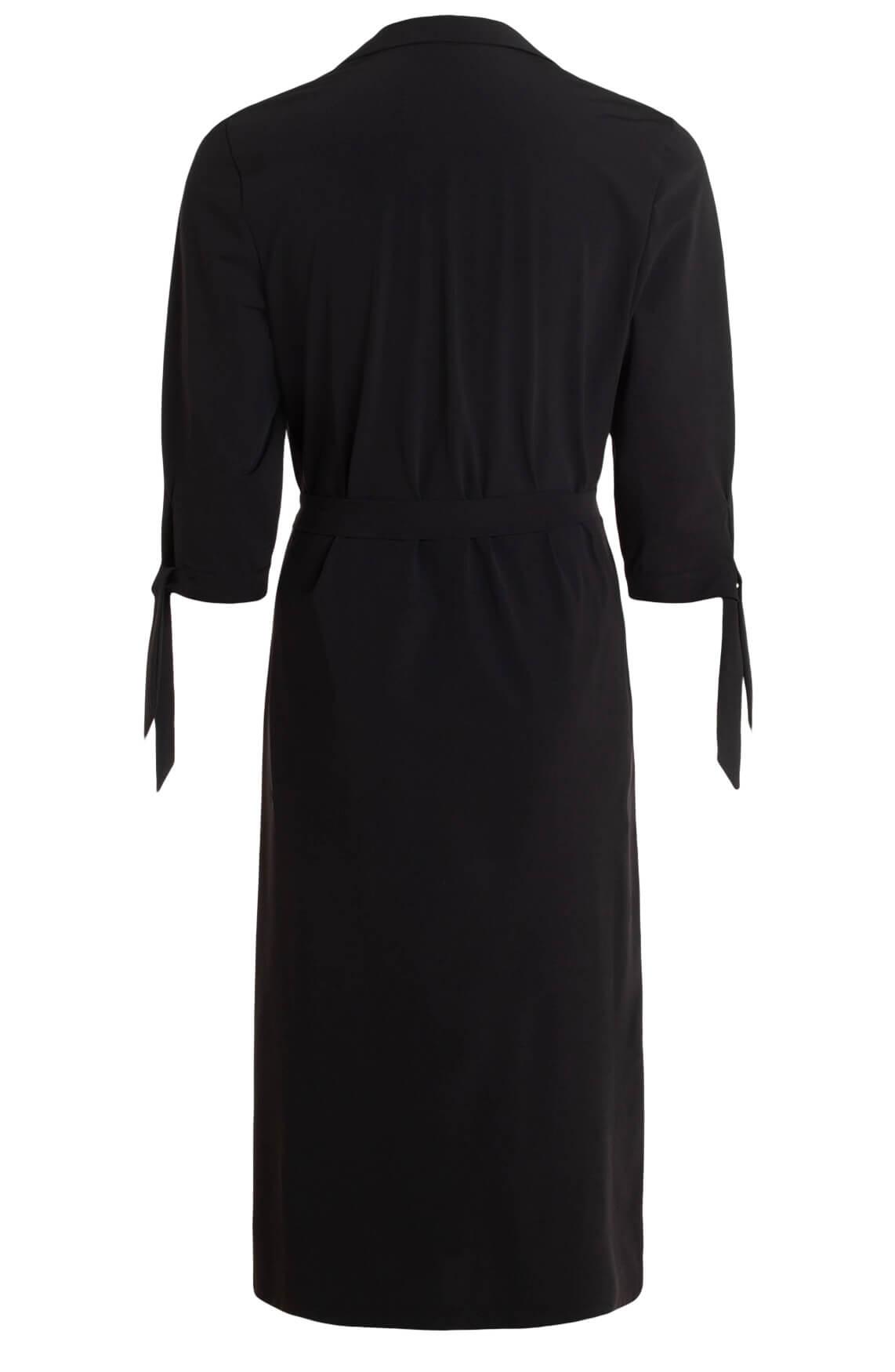 Anna Dames Jersey sensitive jurk zwart