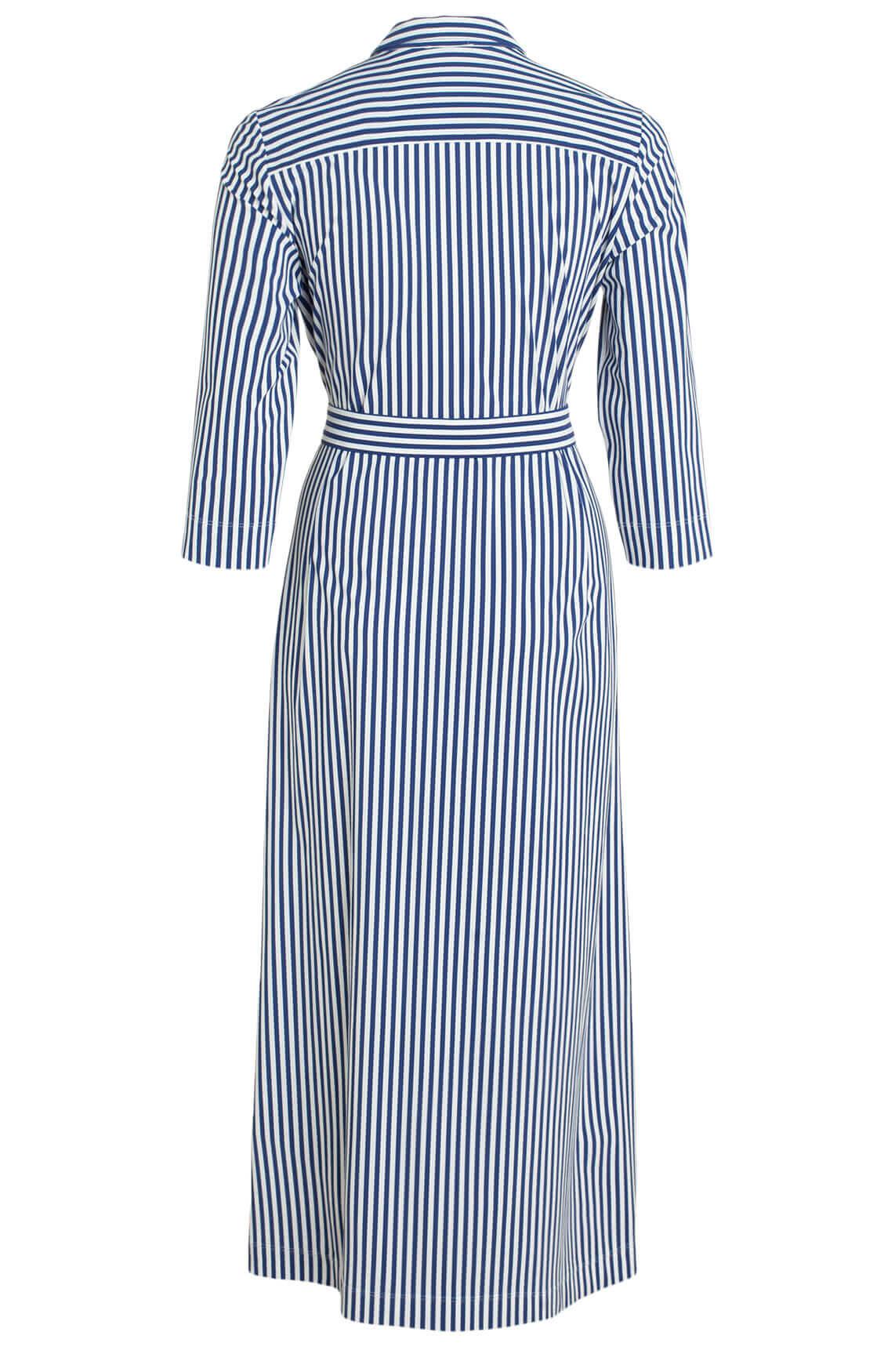 Anna Dames Jersey sensitive jurk Blauw