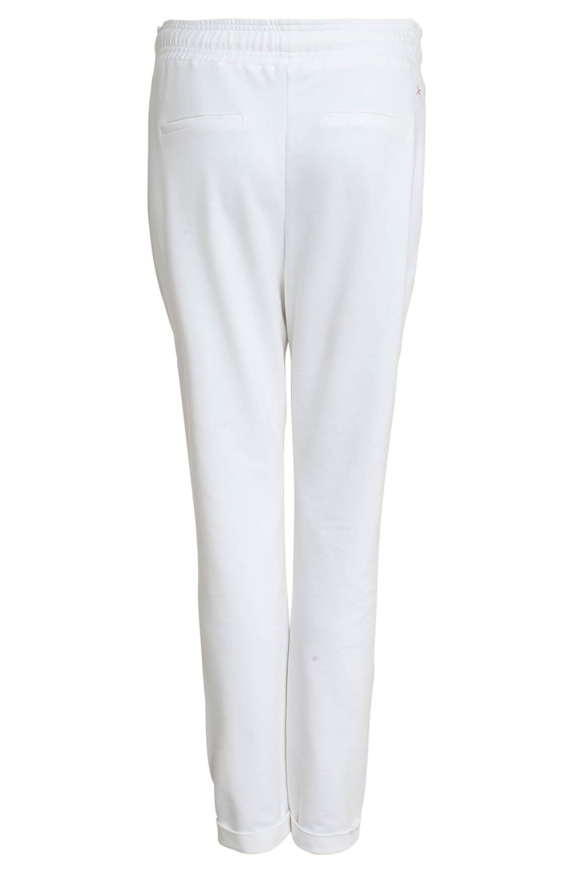 Anna Blue Dames Jogpantalon wit