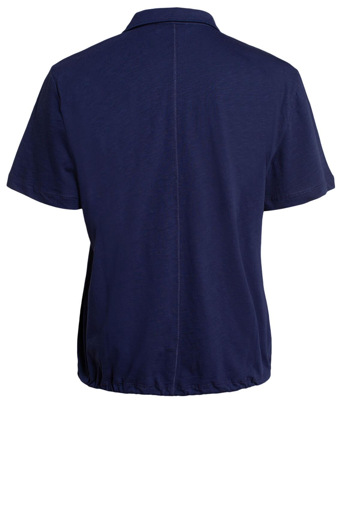 Anna Blue Dames Shirt met strikkoord Blauw