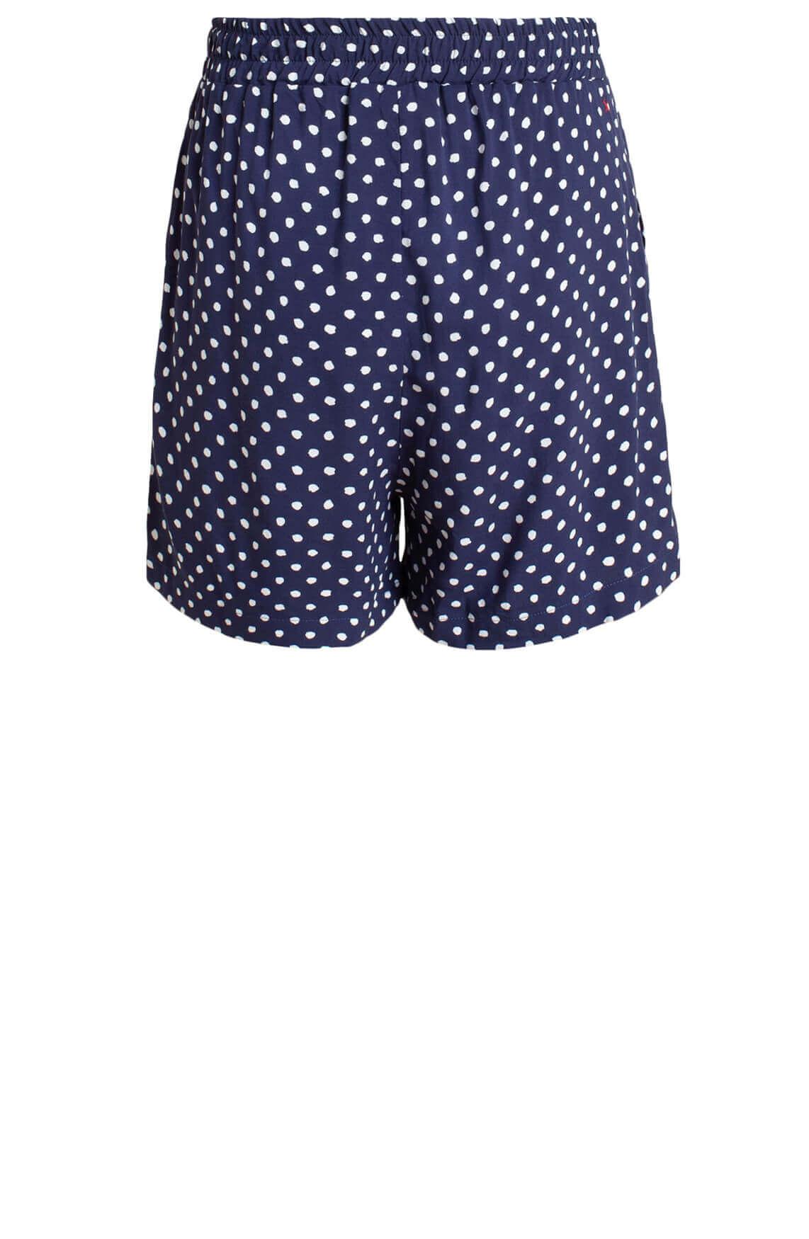Anna Blue Dames Short met stippen Blauw